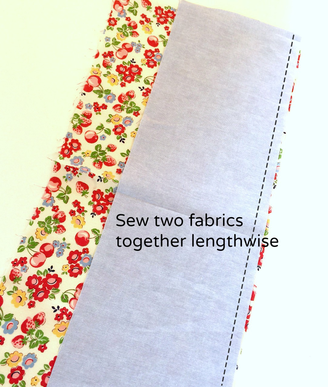 sew fabrics together