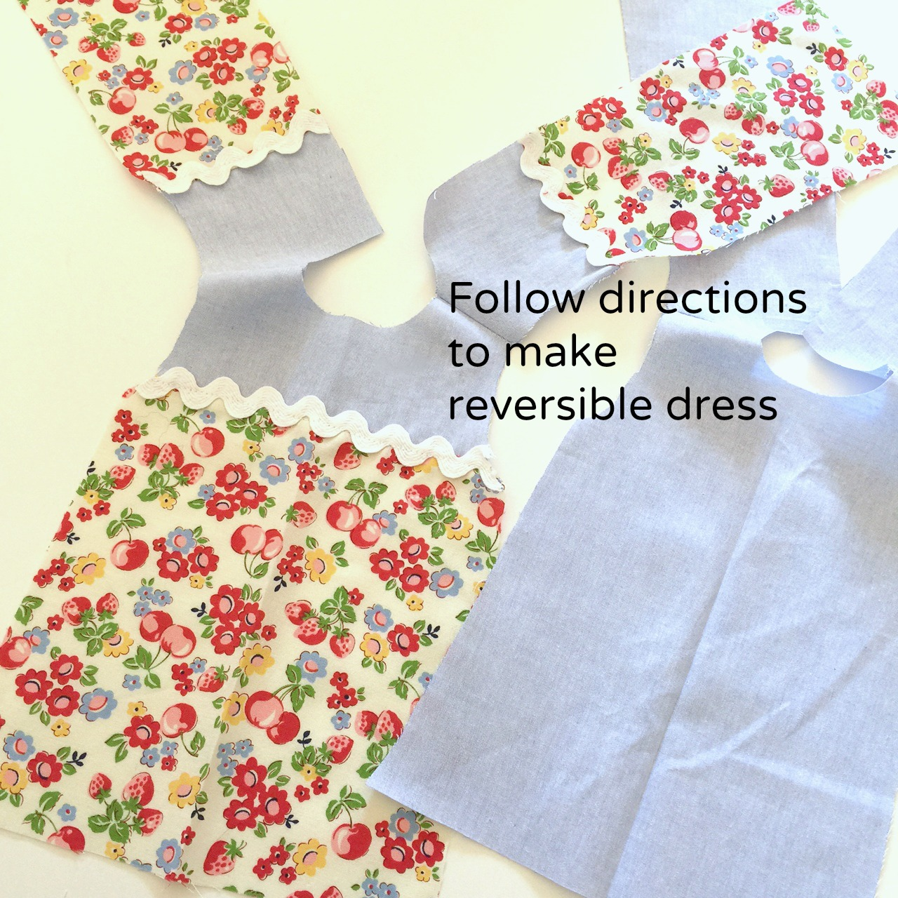 Reversible doll dress trick