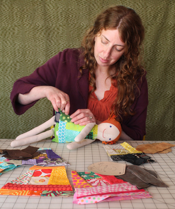 Deborah sewing Sewing Smiles Dolls