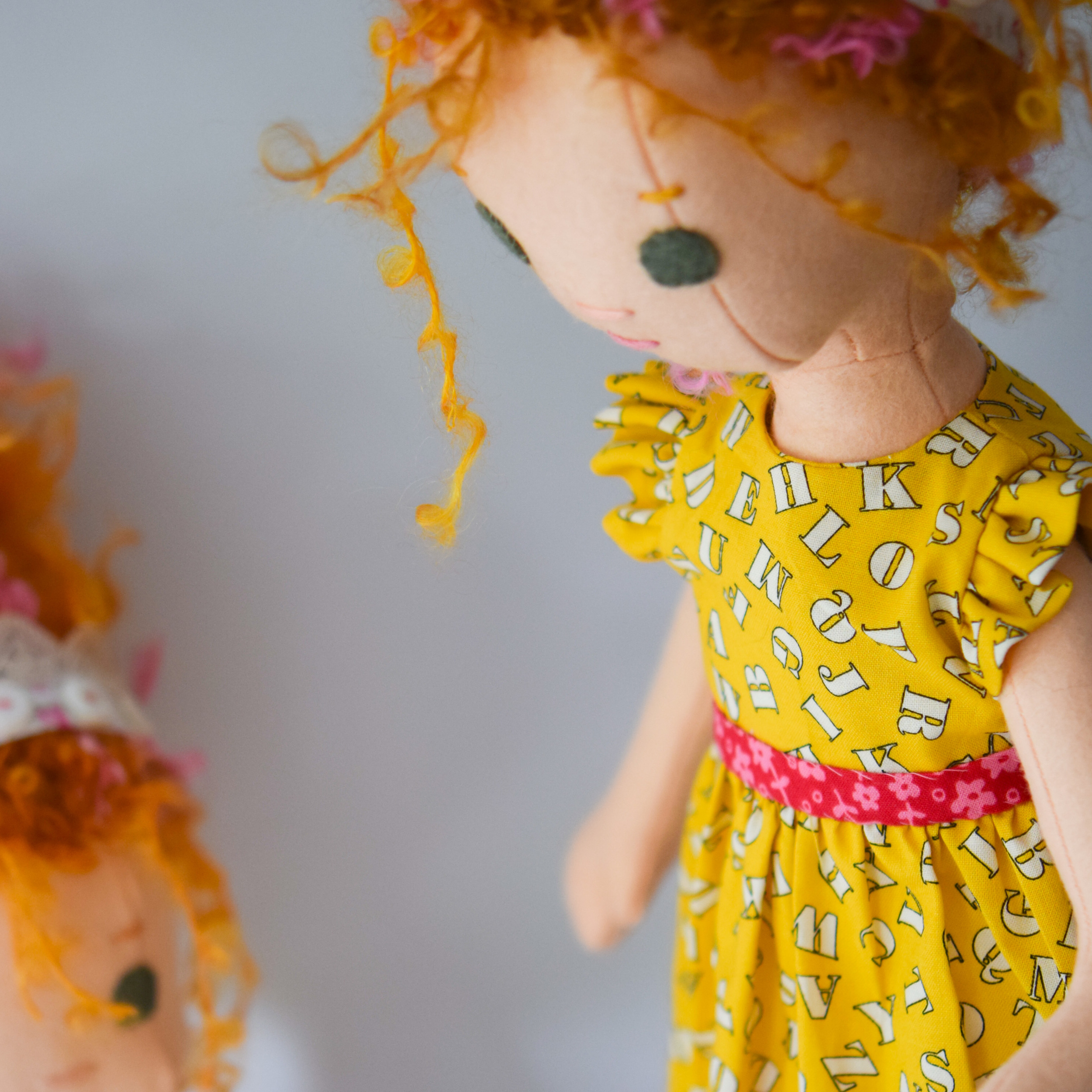 Two Fancy Nancy dolls
