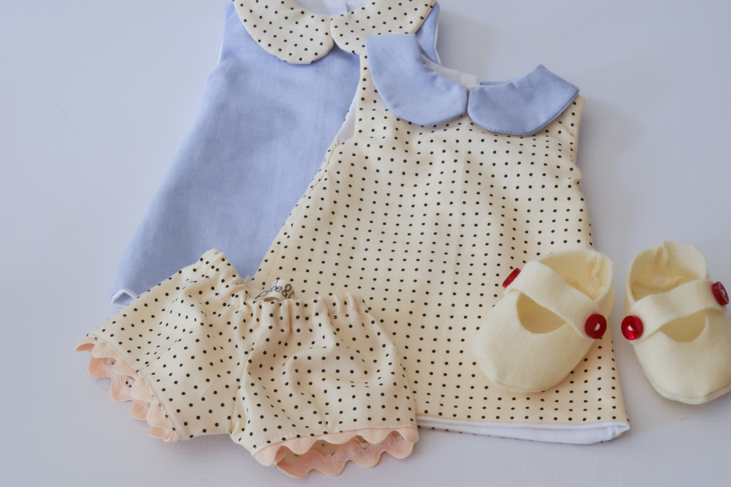 Dotted Doll Dress Set