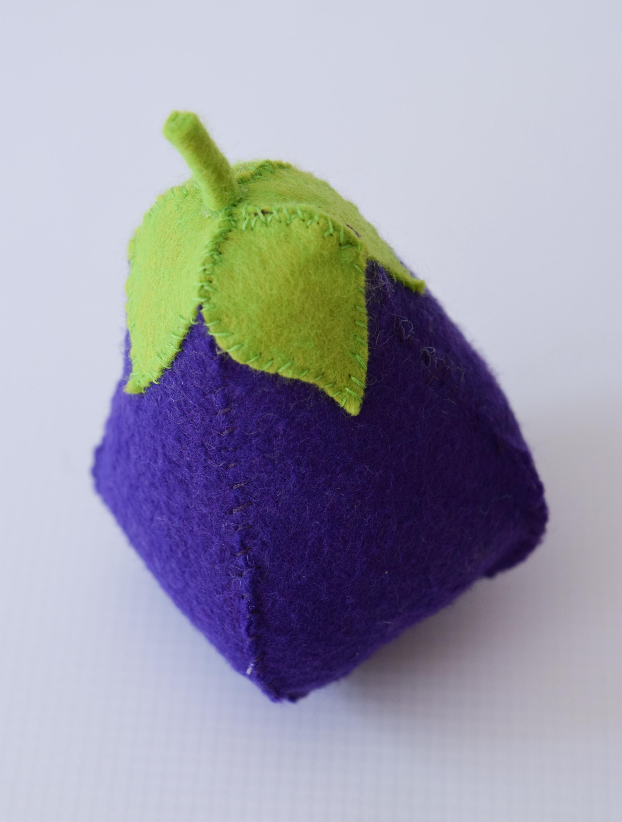 Felt eggplant.