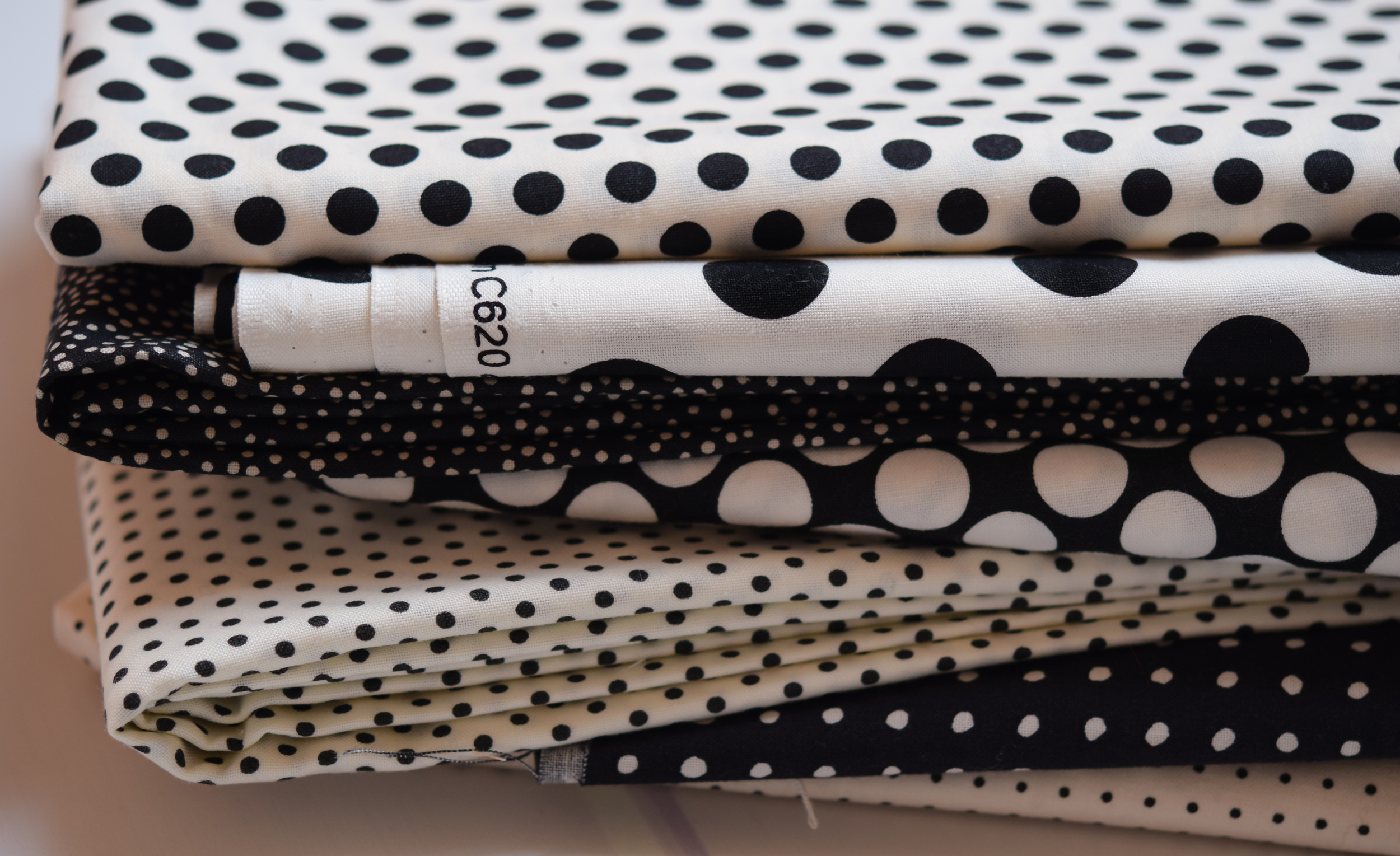 Black and White dotted Fabric