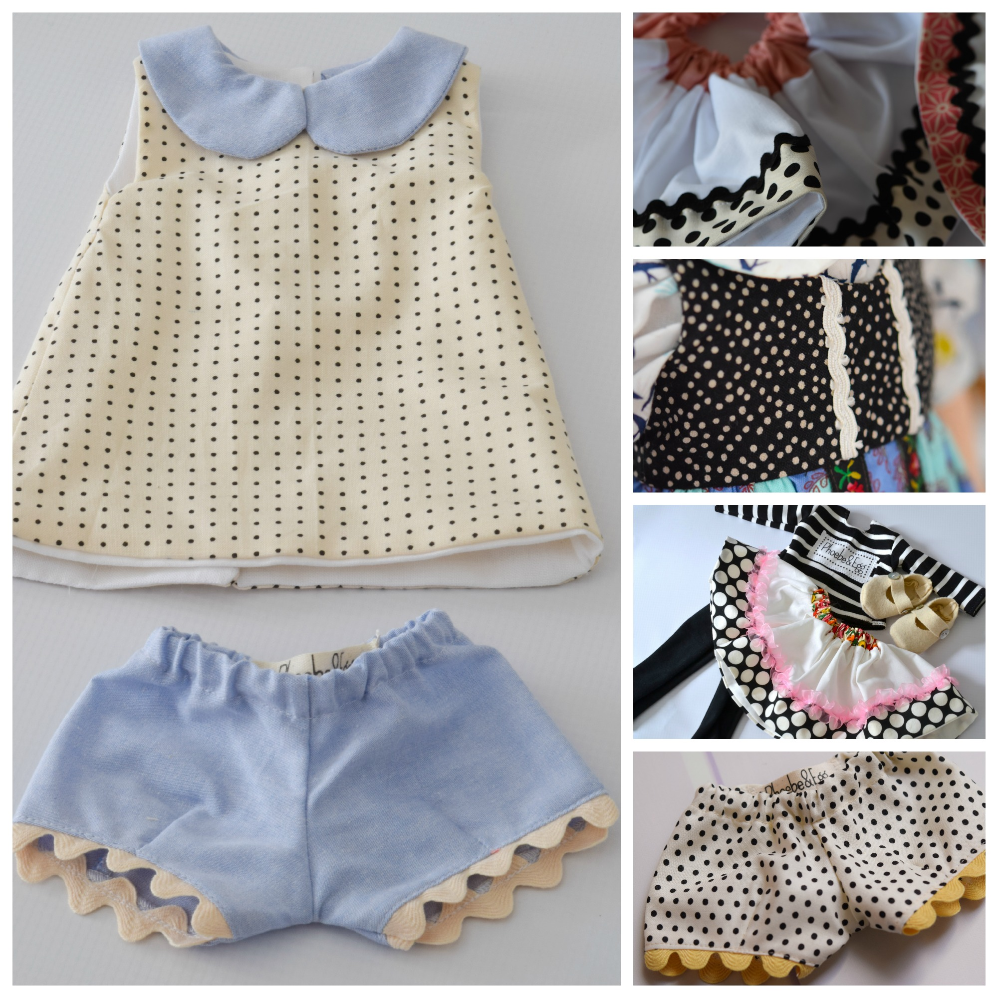Dotted doll dress