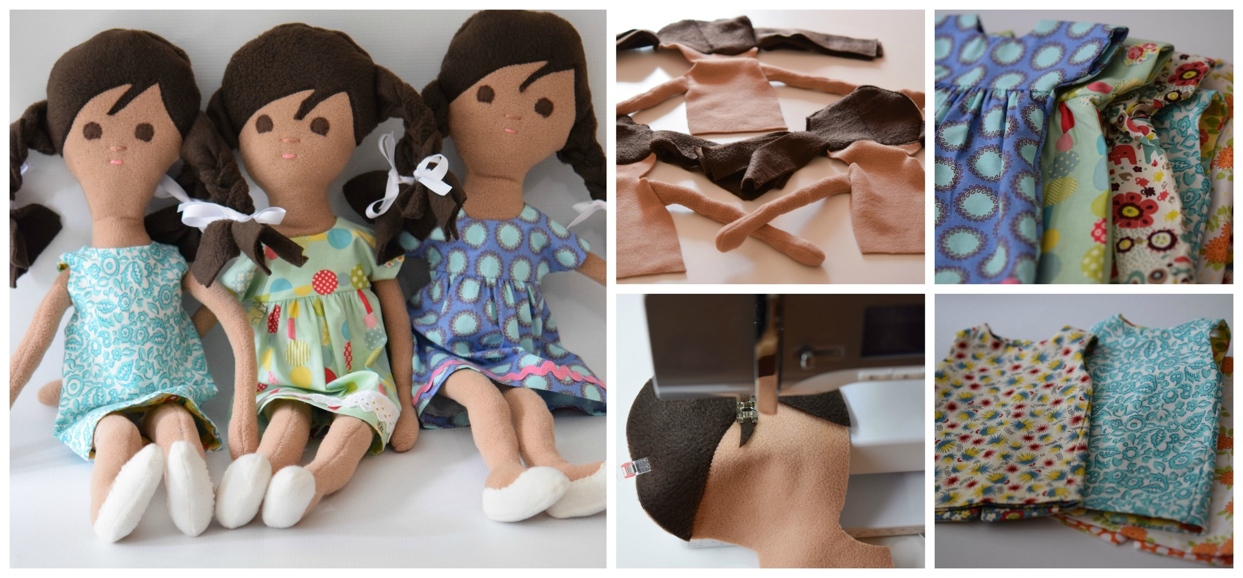 Dolls for girls ages 3-12. Designed to be portable and played with. Each comes with a change of clothes.