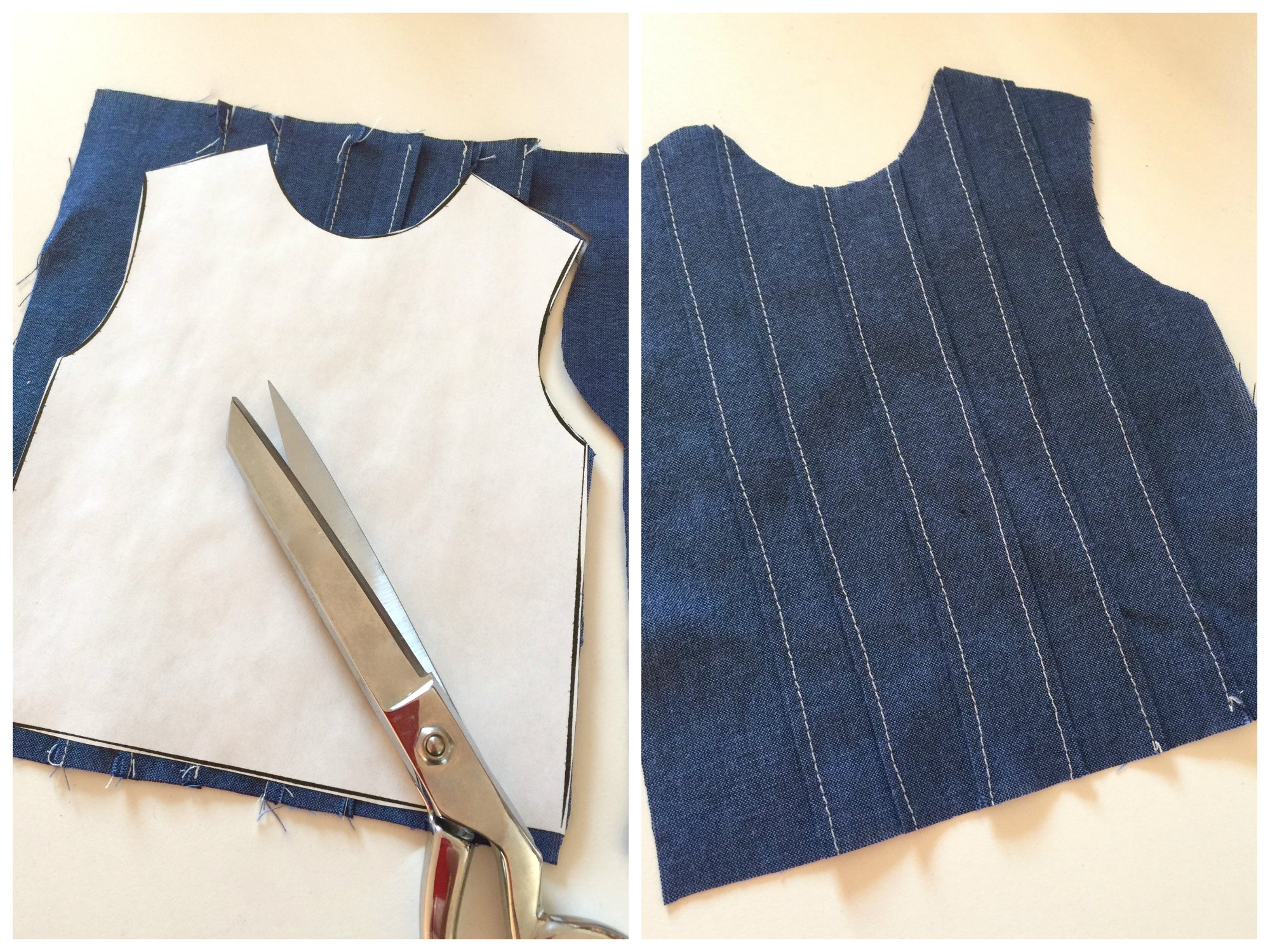 Placing and cutting the bodice