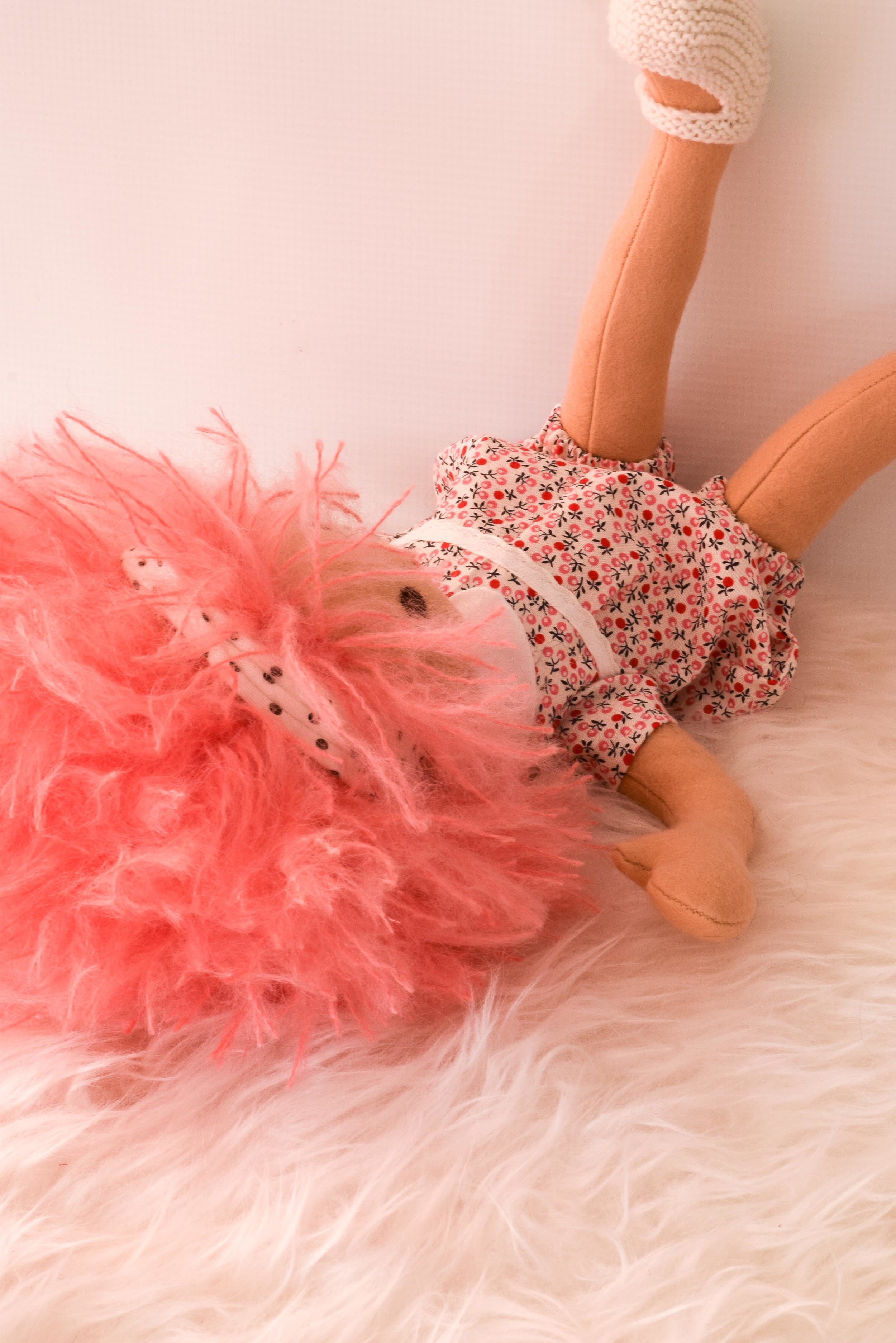 Pink Haired Baby Egg Doll