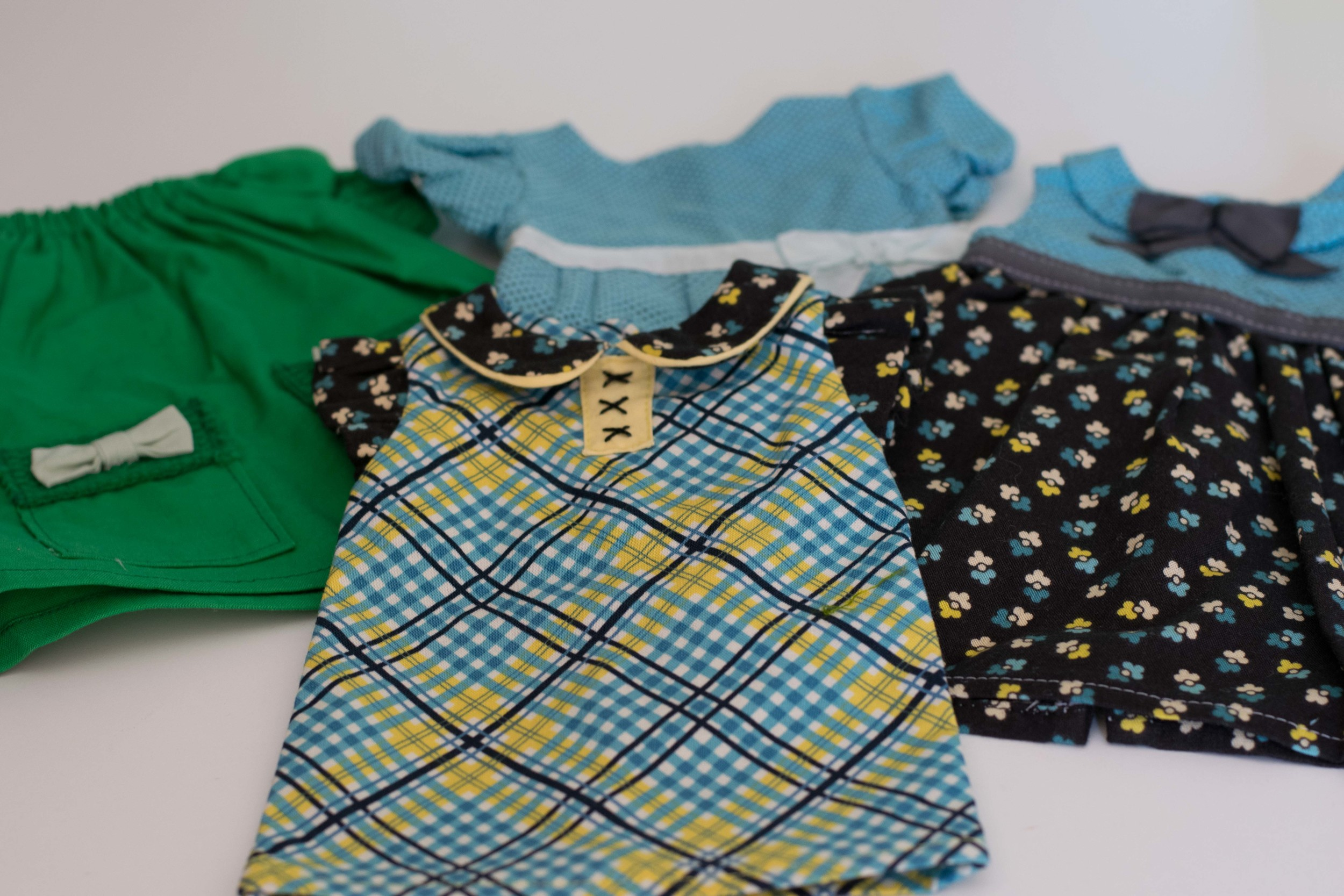 Alison's dresses from one of the Purl Soho packets
