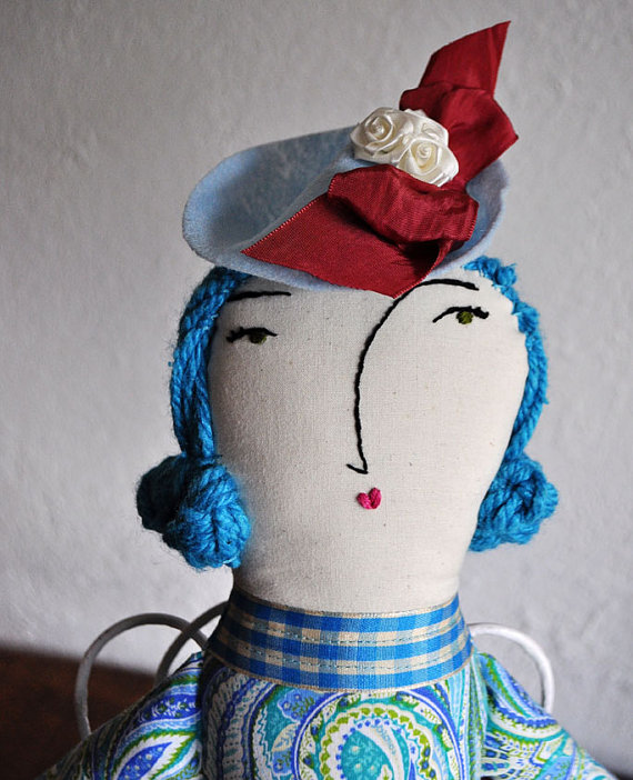 Blue hatted lady