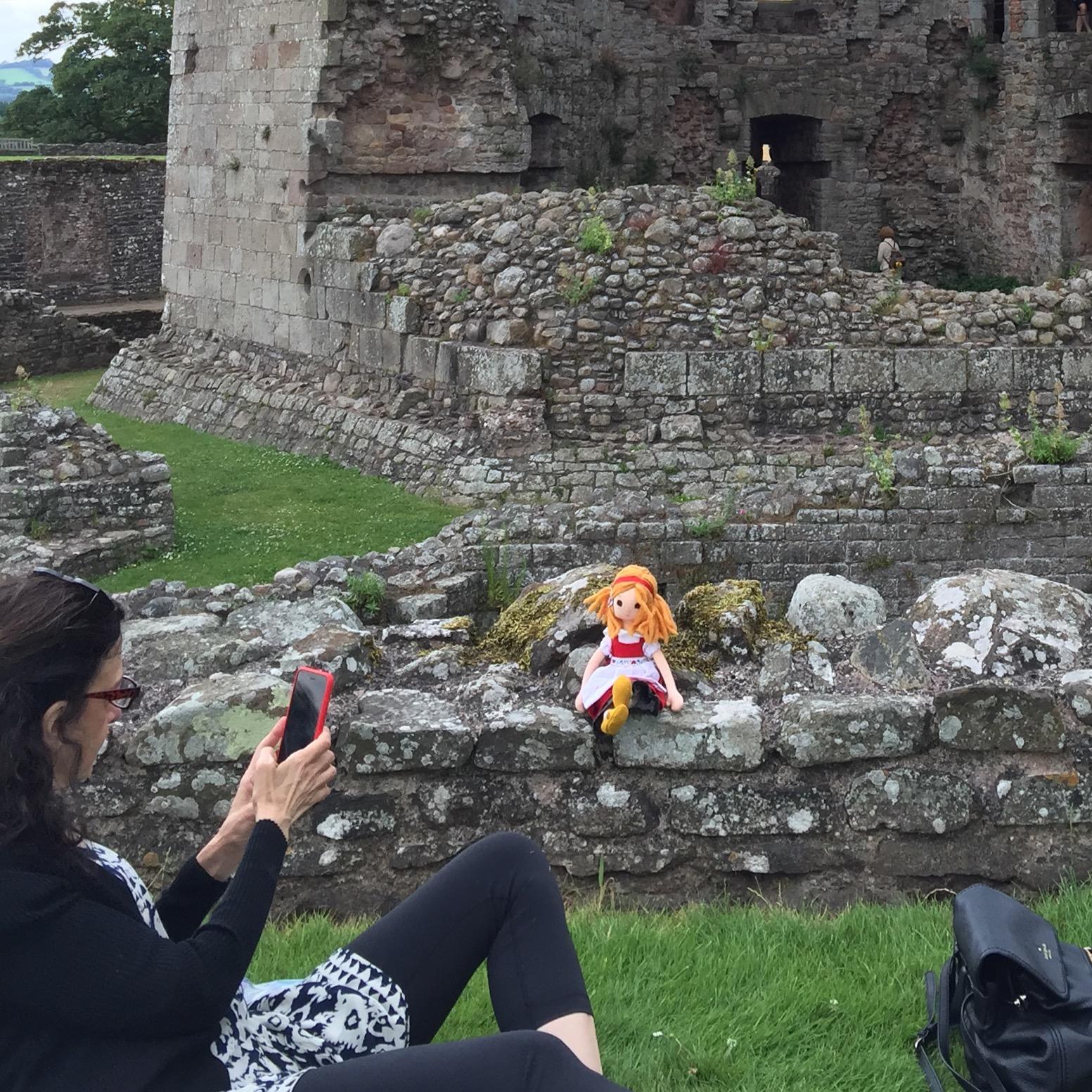 Phoebe goes to Raglan Castle