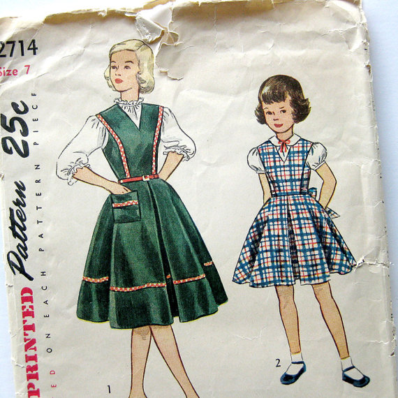 Girls dress pattern from  The Selvedge Shop