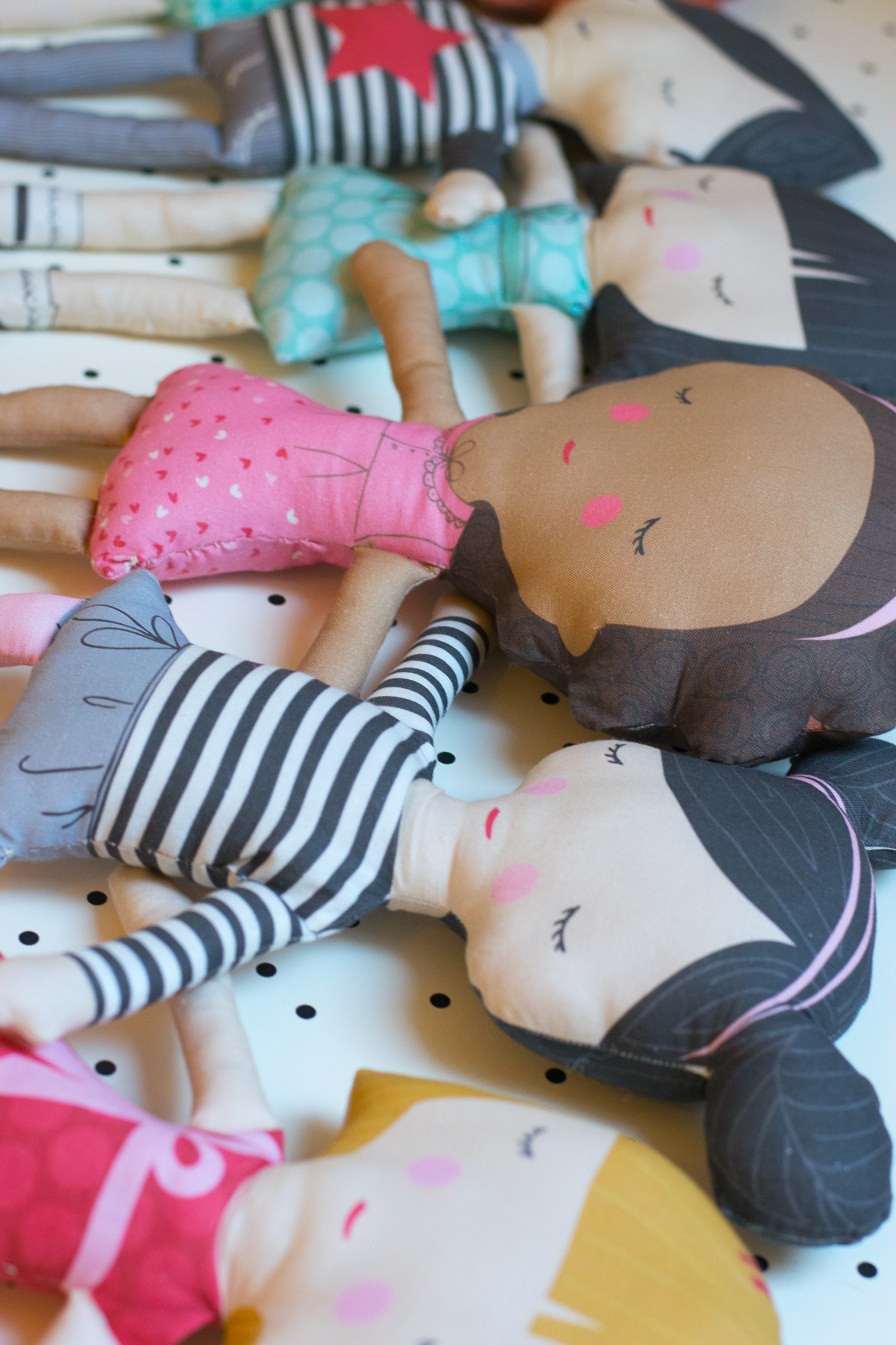 Spoonflower dolls