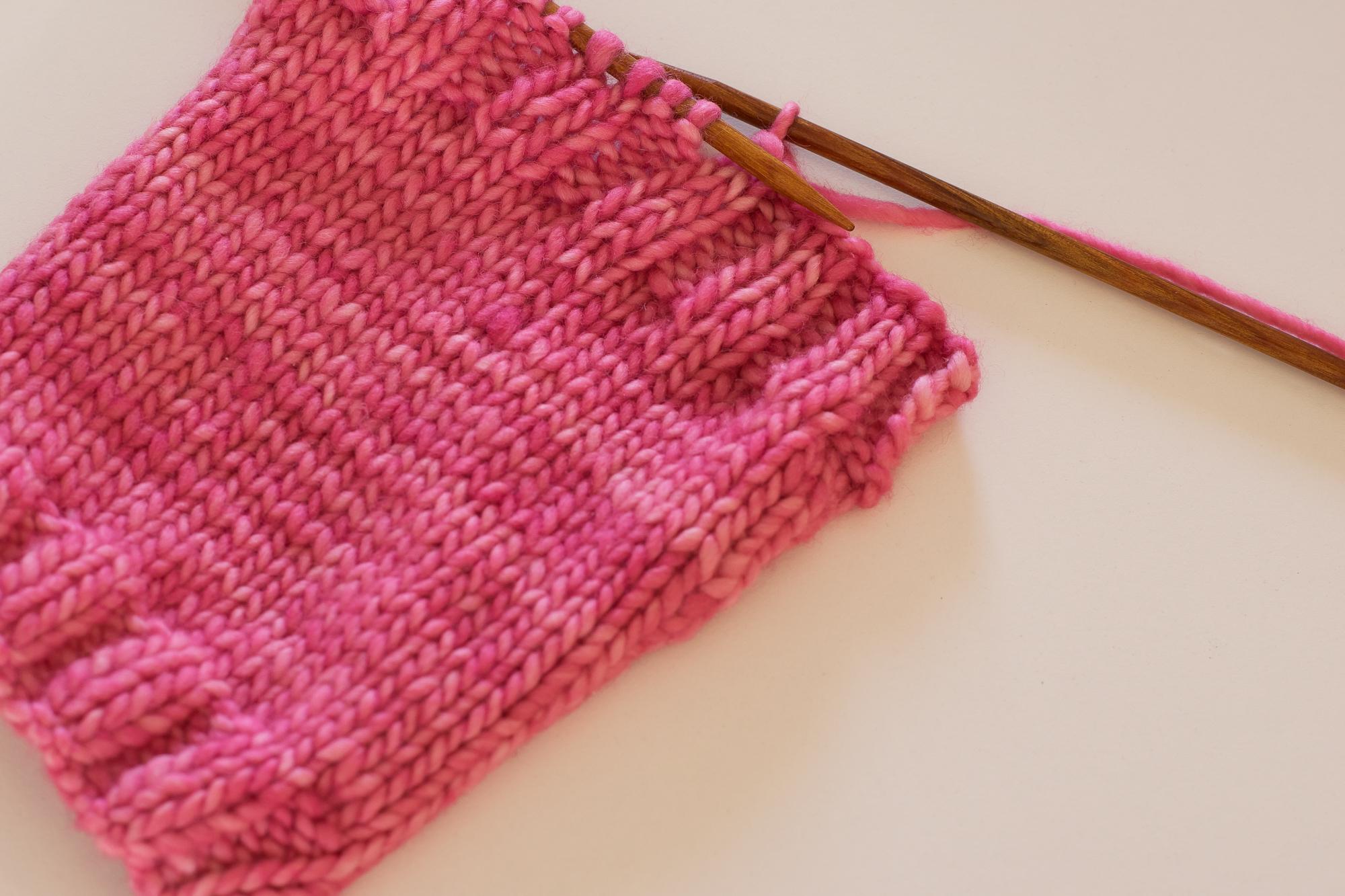 Binding off in pattern