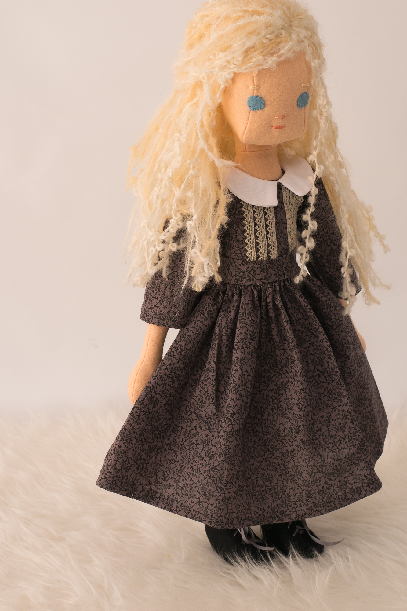 Victorian dress brown