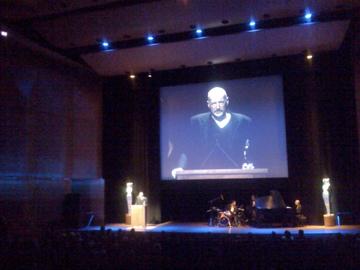 David Alan Harvey accepts Lucie Award for BURN Magazine - image by Kerry Payne