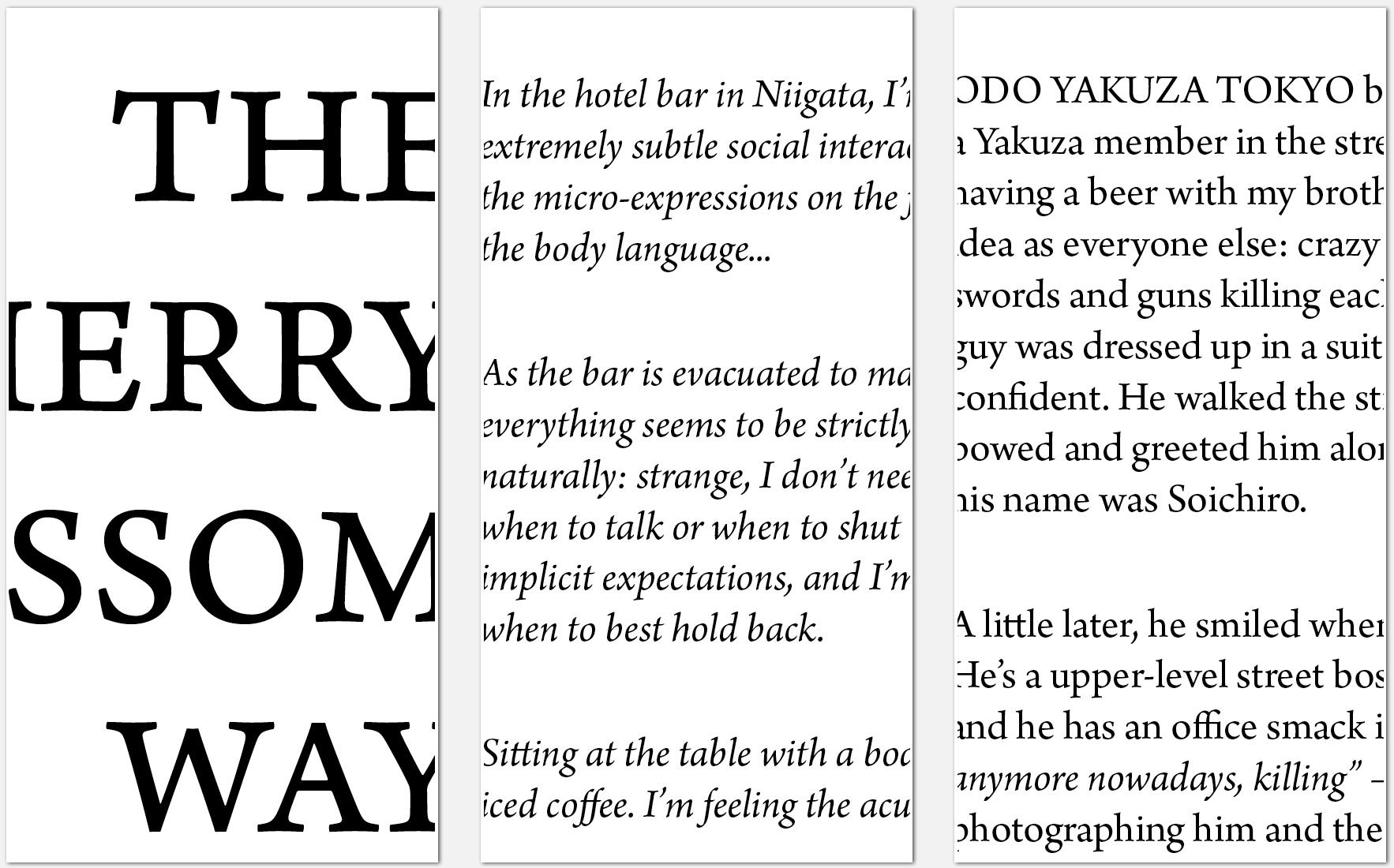 ODO YAKUZA TOKYO - typefaces