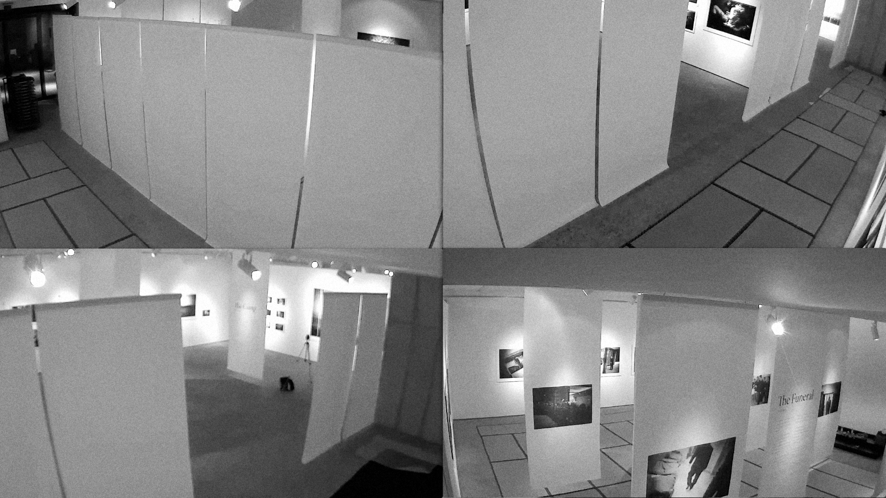security cam footage of the Yakuza exhibit buildup