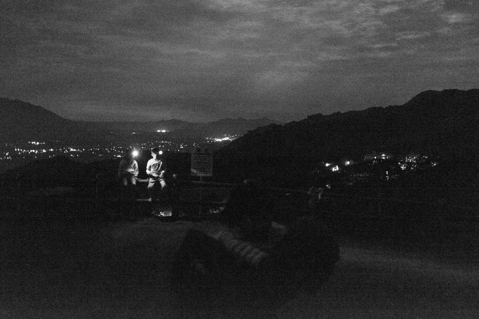 Piggy back ride in the dark (Kyushu, Japan - 2015)