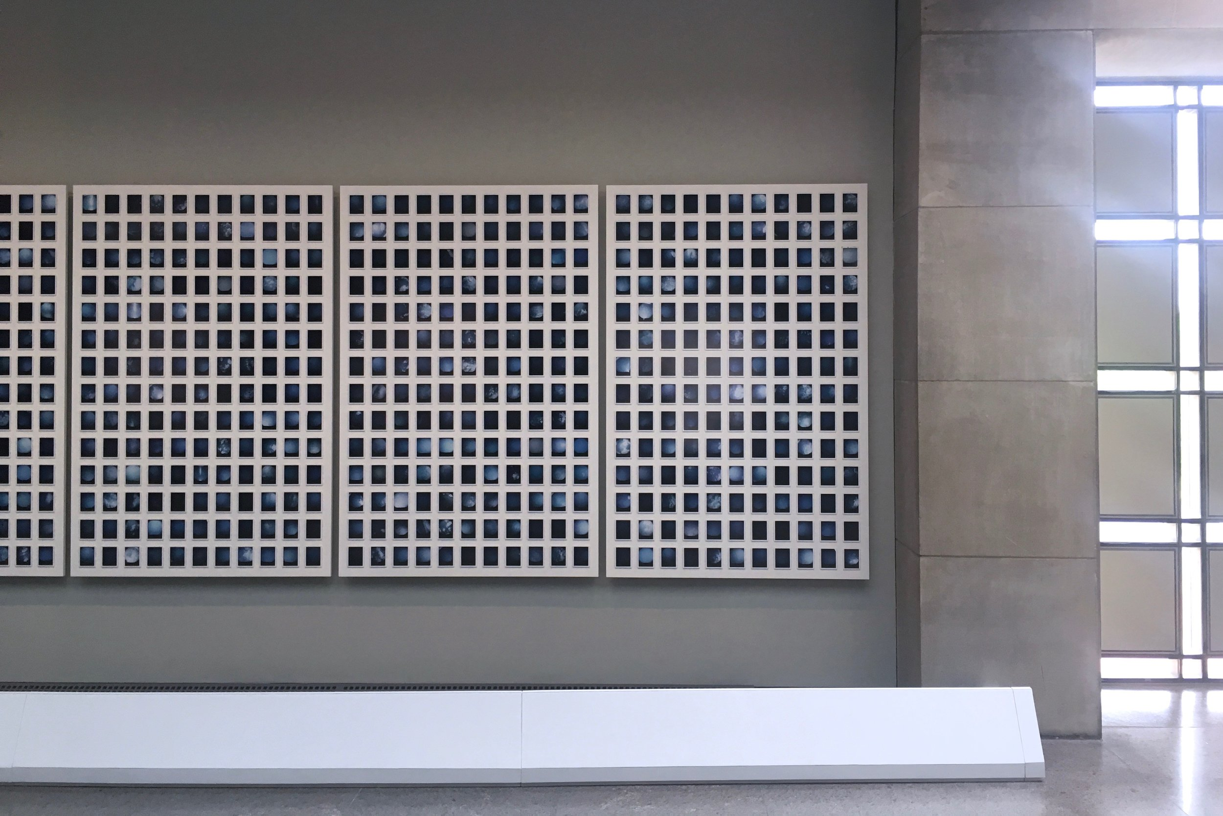 One Thousand and Seventy-eight Blue Skies (2019) – installation detail – United States Holocaust Memorial Museum (Washington DC)