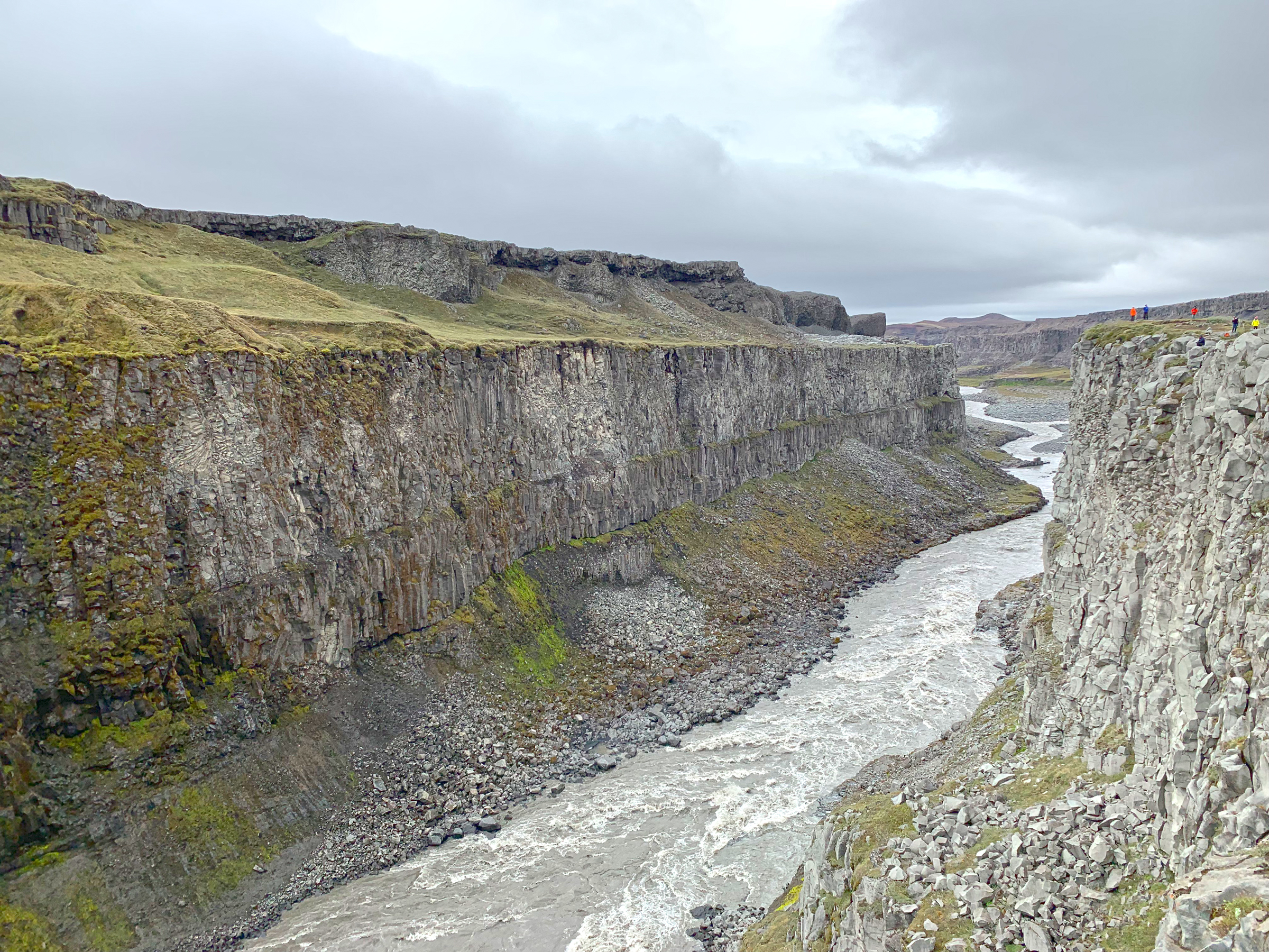 Jökulsa á Fjöllum River Gorge downstream from Dettifoss