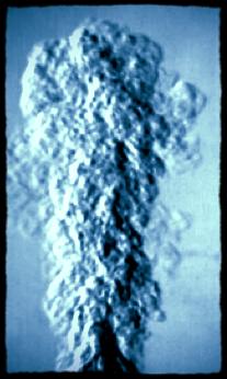 High speed imaging of aerosol cloud evolution