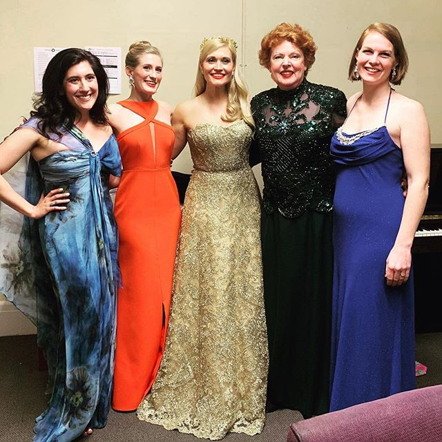 """Singing tonight with these lovely and incredibly talented women at Jordan Hall! Bringing some life to the strong lady """"Aithra"""" in Strauss's """"Die ägyptische Helena"""" with @odysseyopera !"""