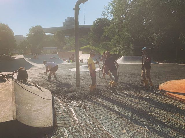 Solid crew for the homestretch. A big thank you to @finelineconstructions for helping out on this last pour!