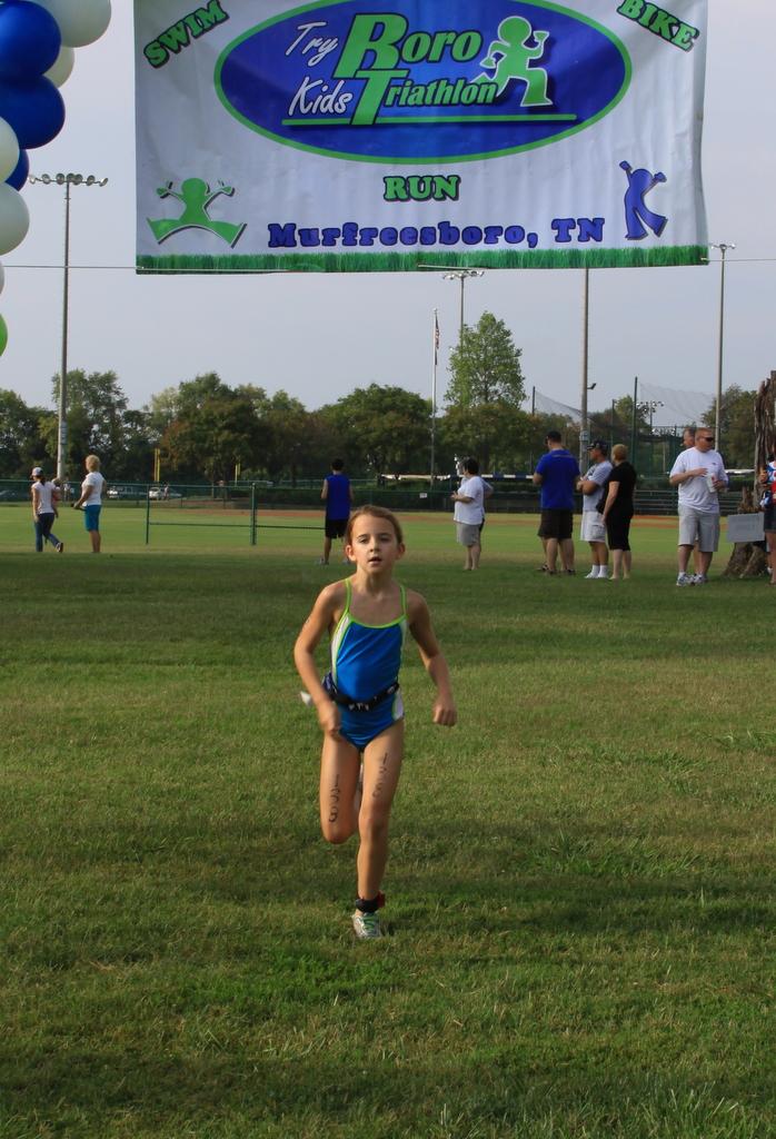 Finishing the 2012 Try Boro Kids Triathlon