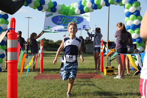 ...and onto the finish of the 1st Try Boro Kids Triathlon
