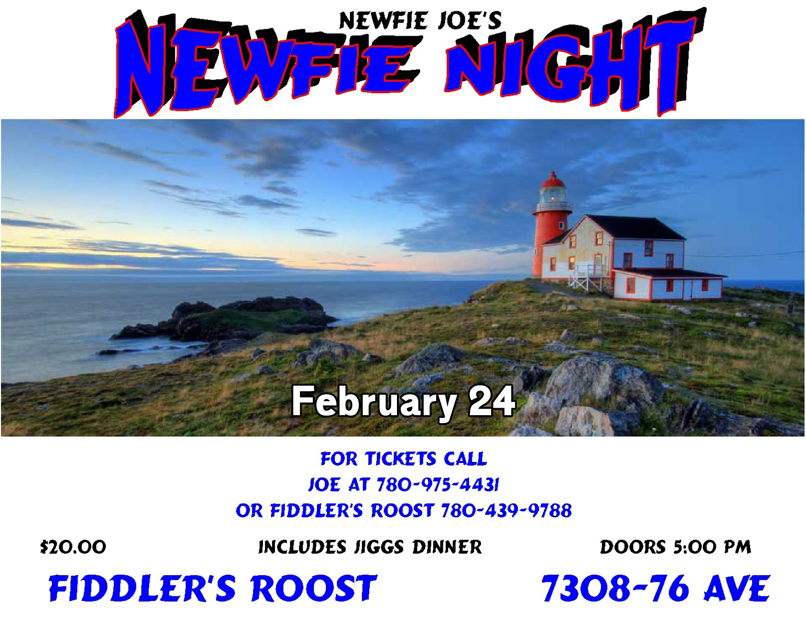 Fiddler's Roost - Newfie Night