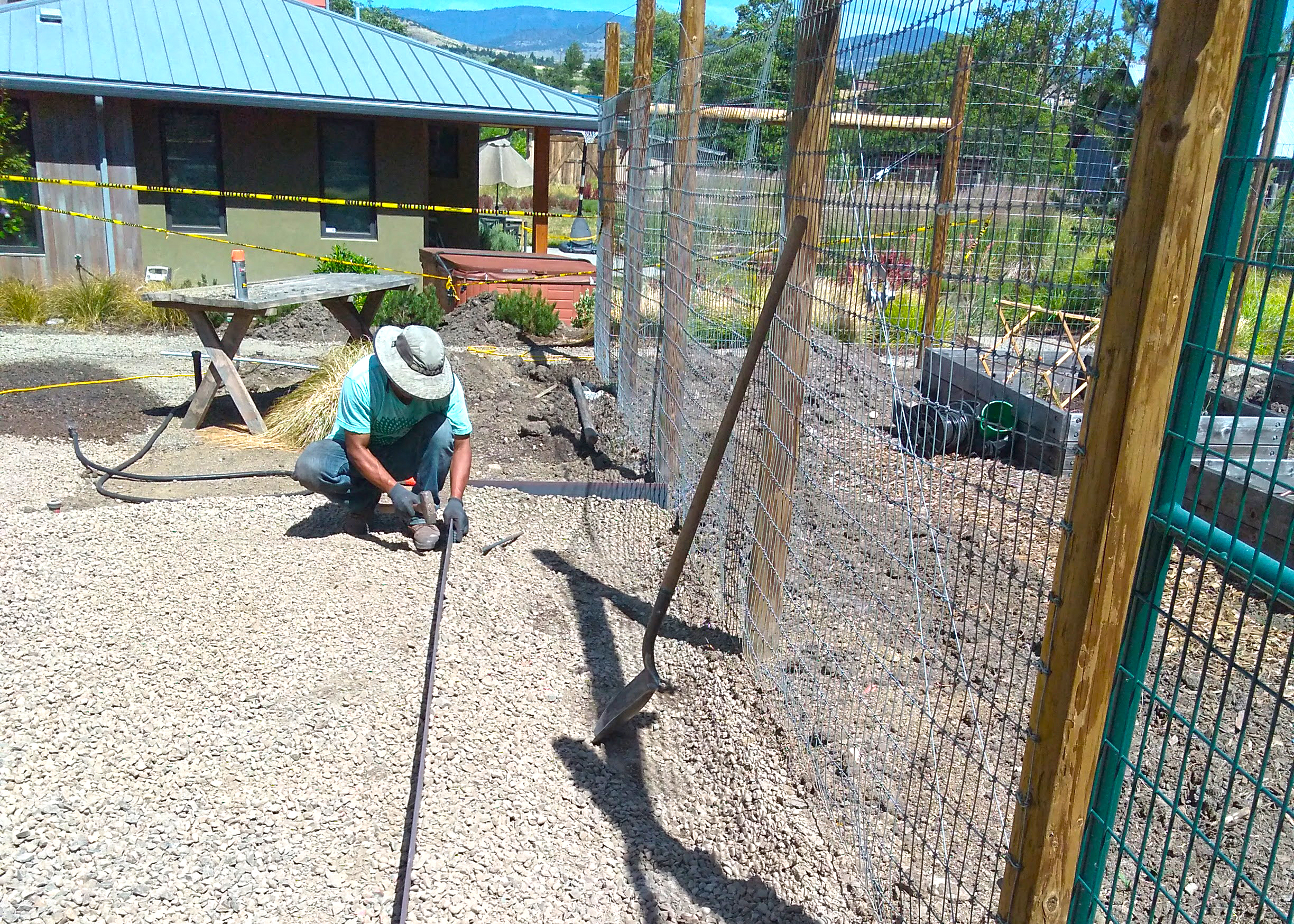 field crew team steel edging installation.jpg