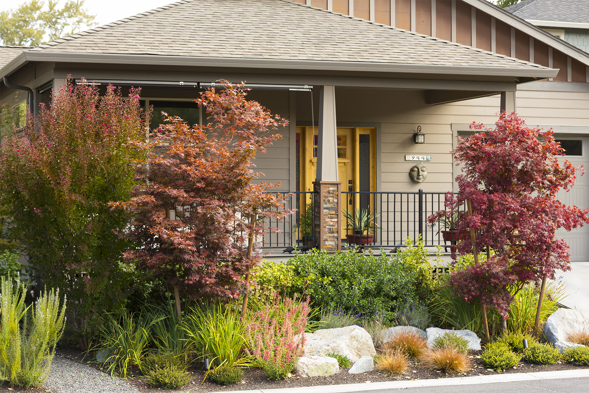 Water-wise + Pollinator-Attracting Perennial Garden + Curb Appeal