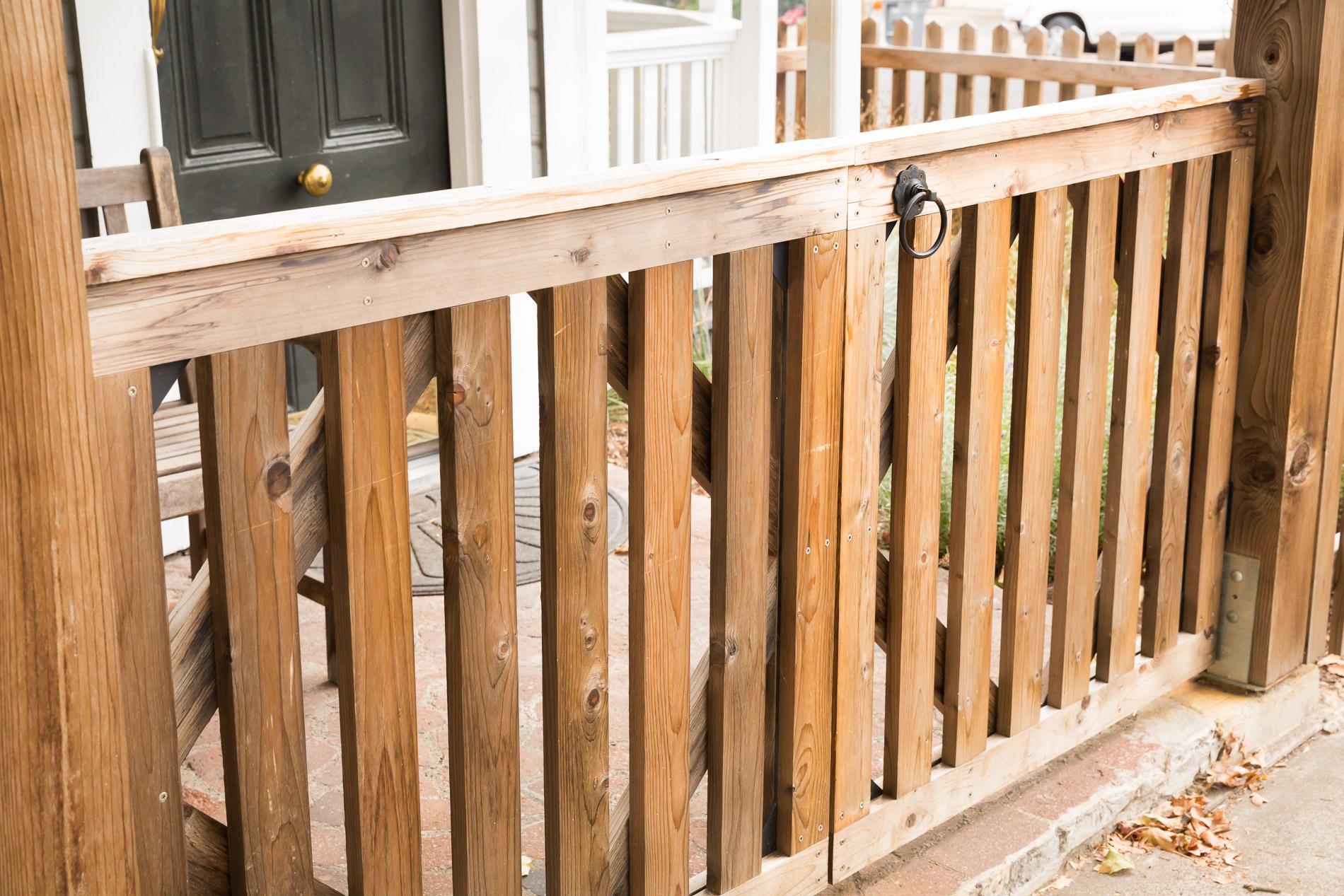 Custom Cedar Entry Gate + Closed Picket + Black Steel Pull