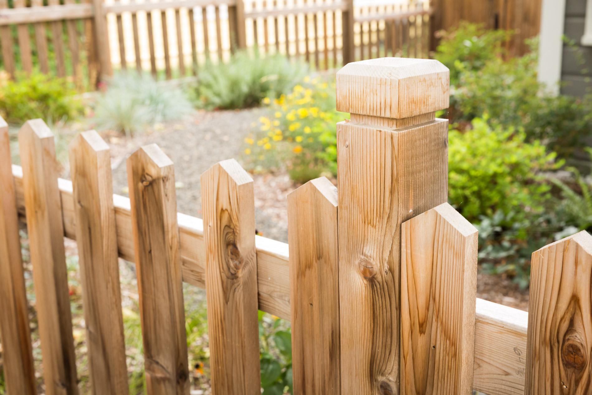 Cedar Picket Fence + Simple Custom Post Cap