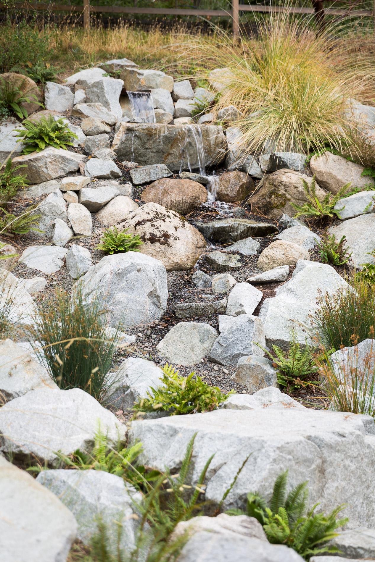 Granite Water Feature + Creek-Like + Weir