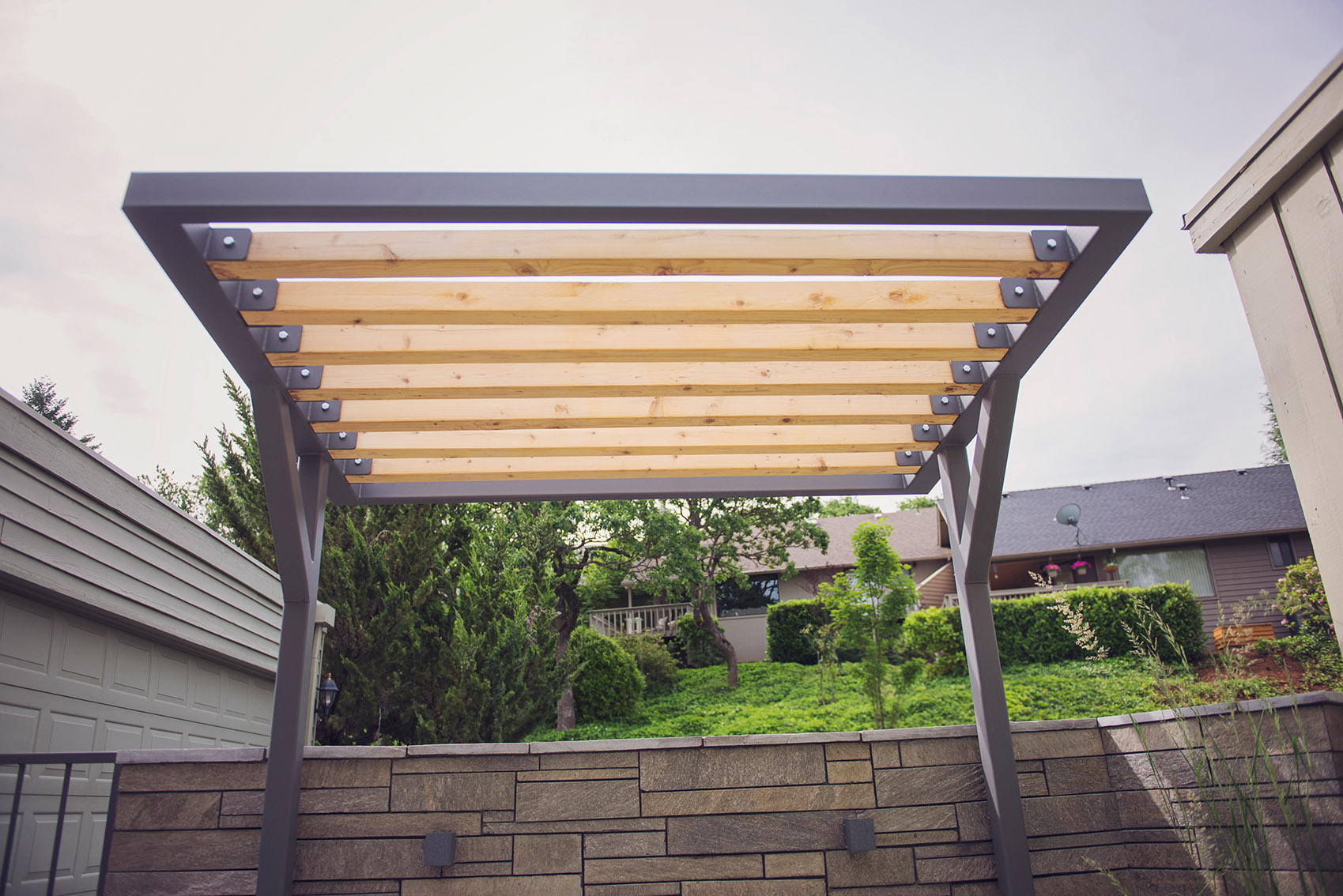 Modern Cantilevered Shade Arbor