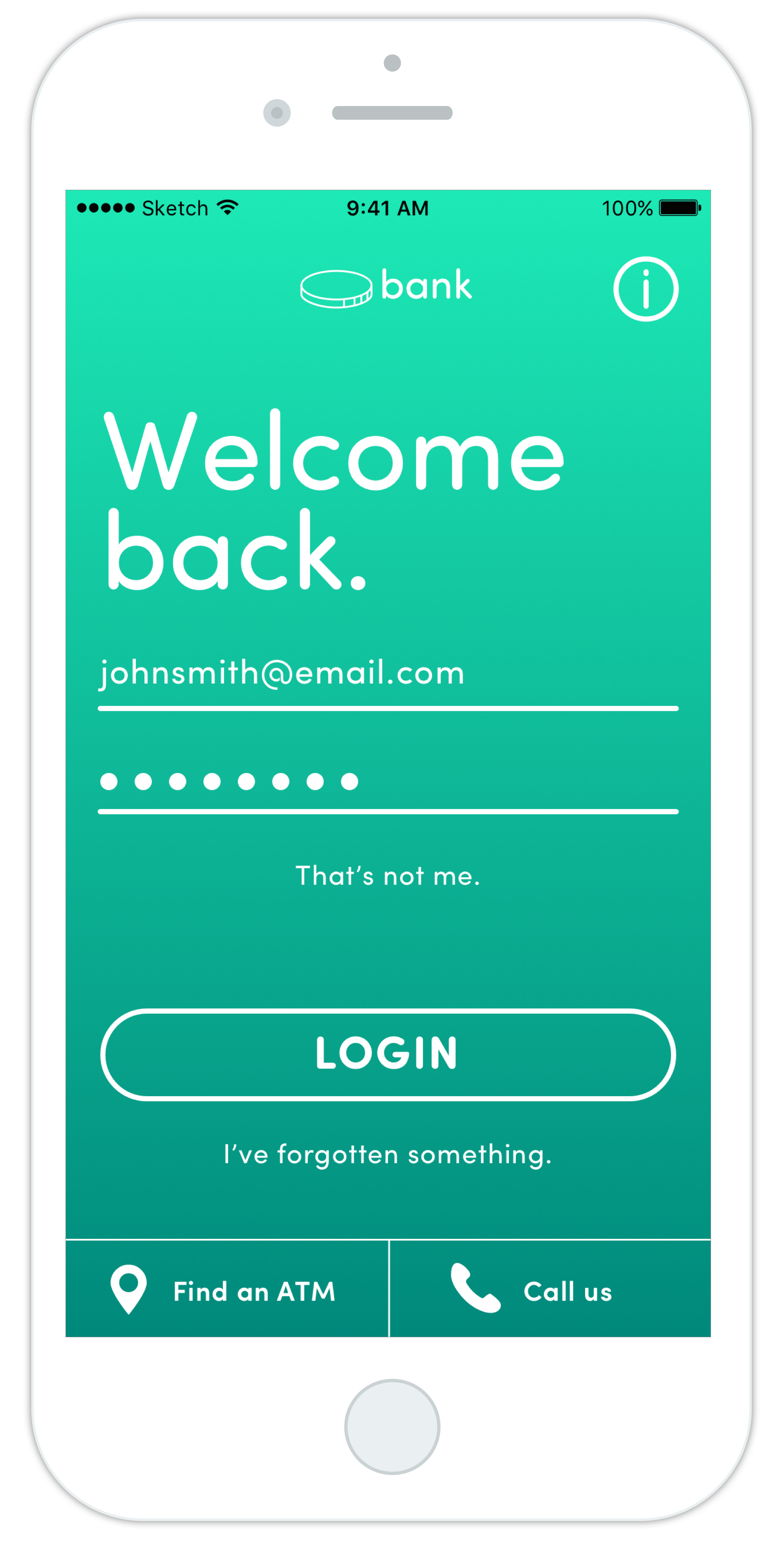 Banking App Redesign - Welcome
