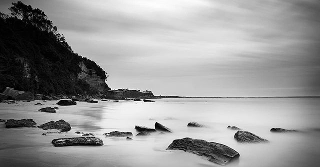 Secret Beach Black & White ----------------- A moody Black & White Long Exposure photo at a local beach.