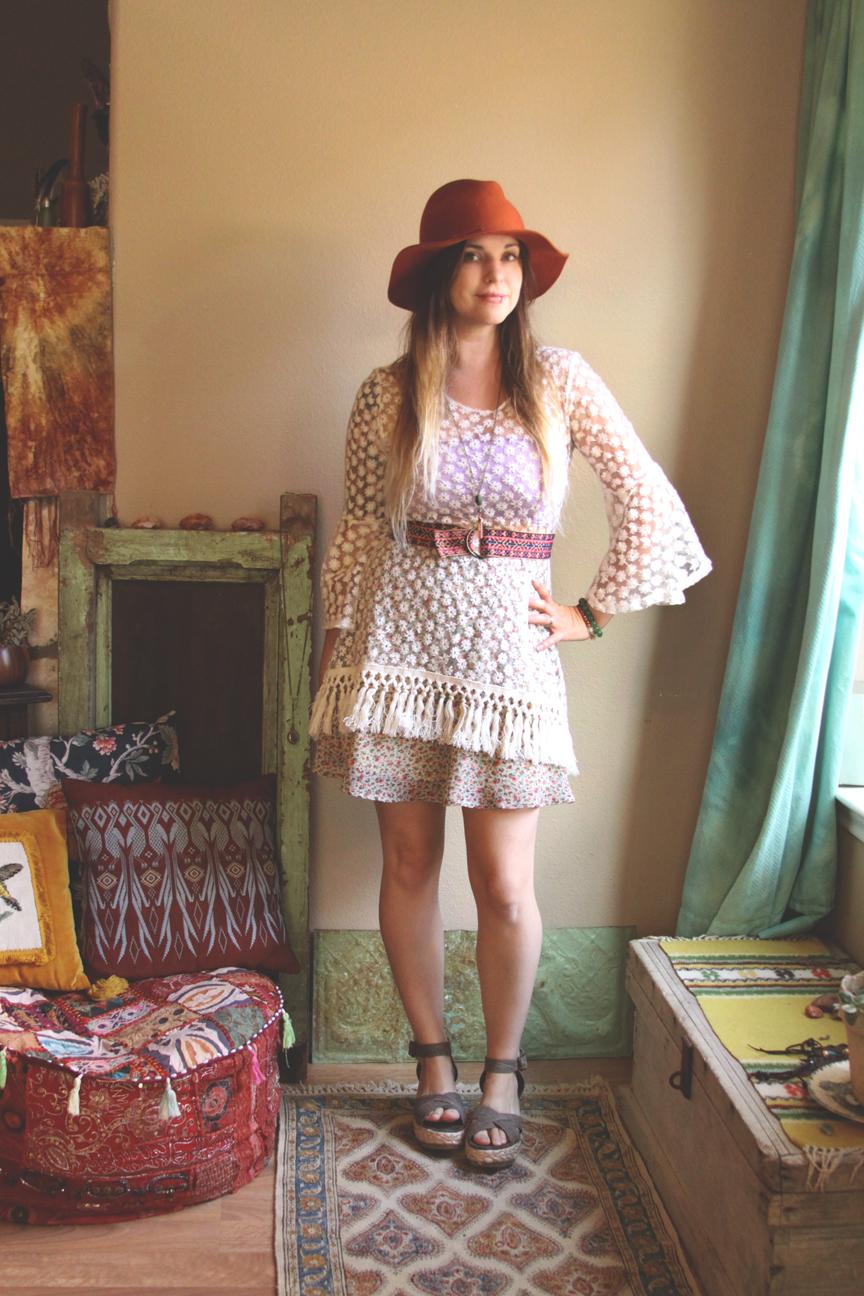 floral lace crochet fringe dress outfit.jpg