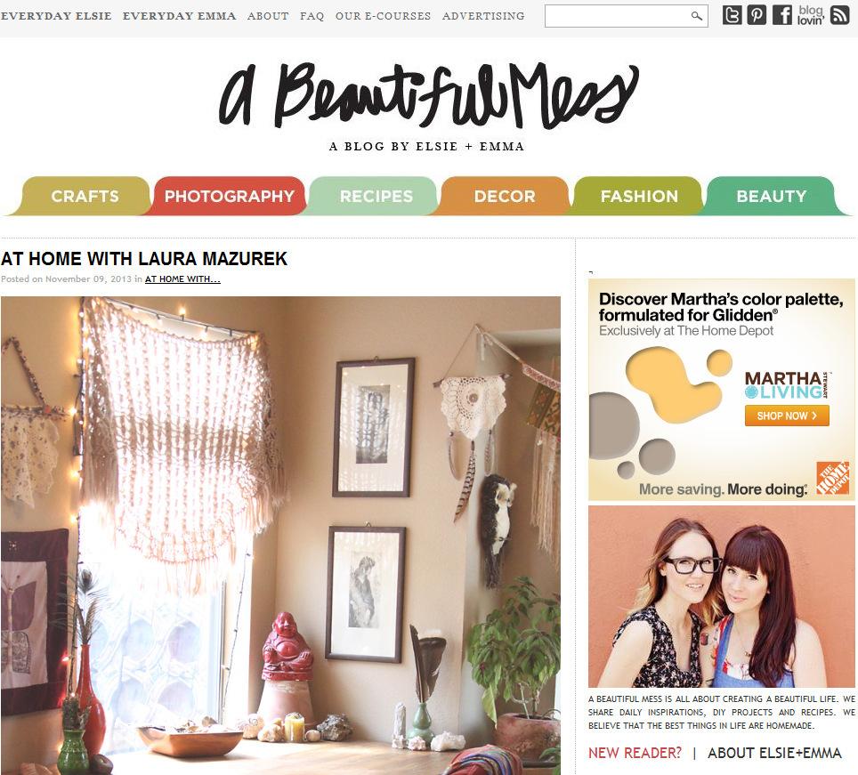 A Beatiful Mess: At Home With Laura Mazurek