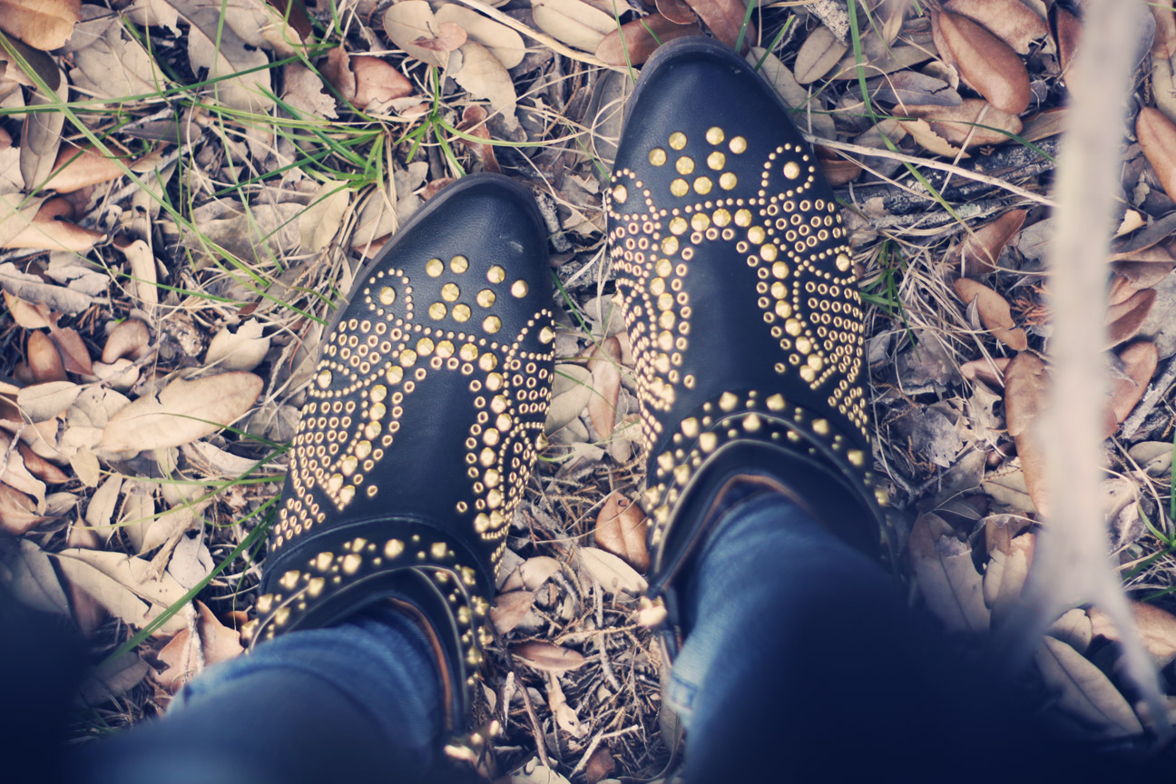 studded boots from lulus on roots and feathers