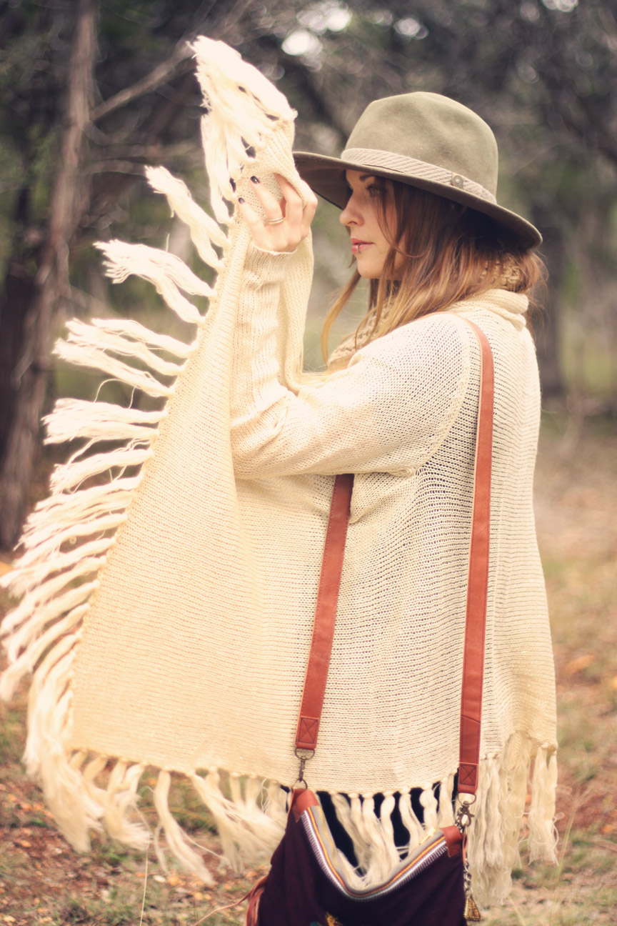 white tassel sweater on rootsandfeathers.com