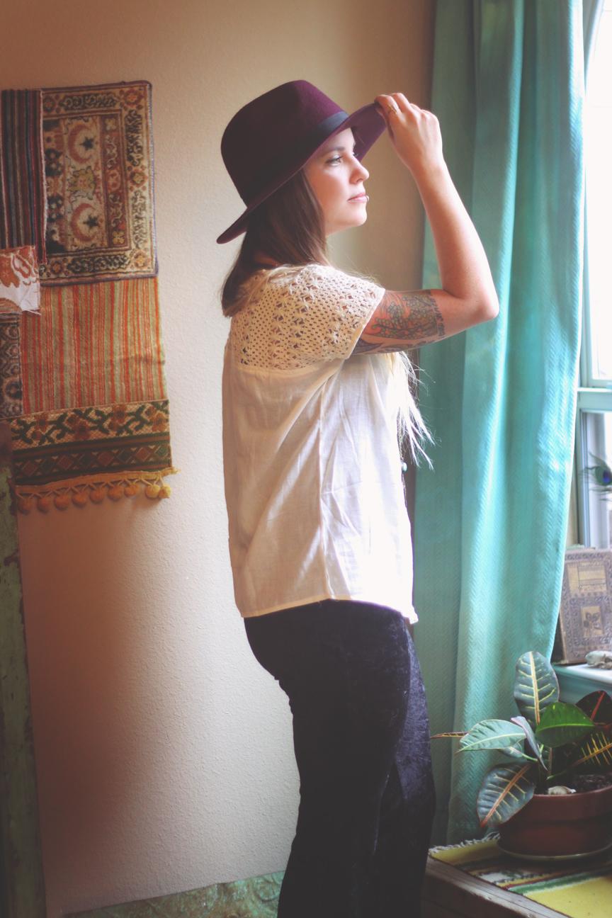 Love this plum hat