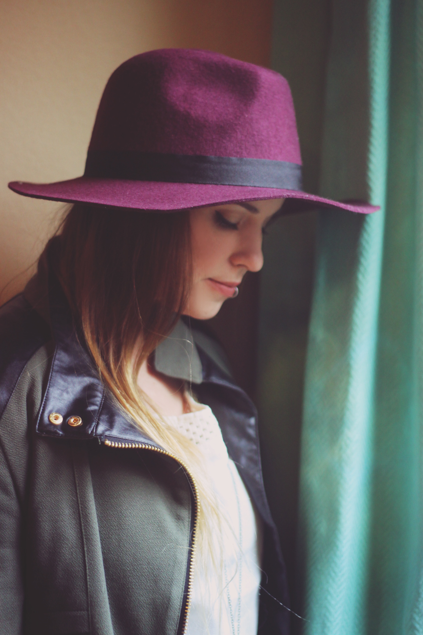 plum hat from lulus.com