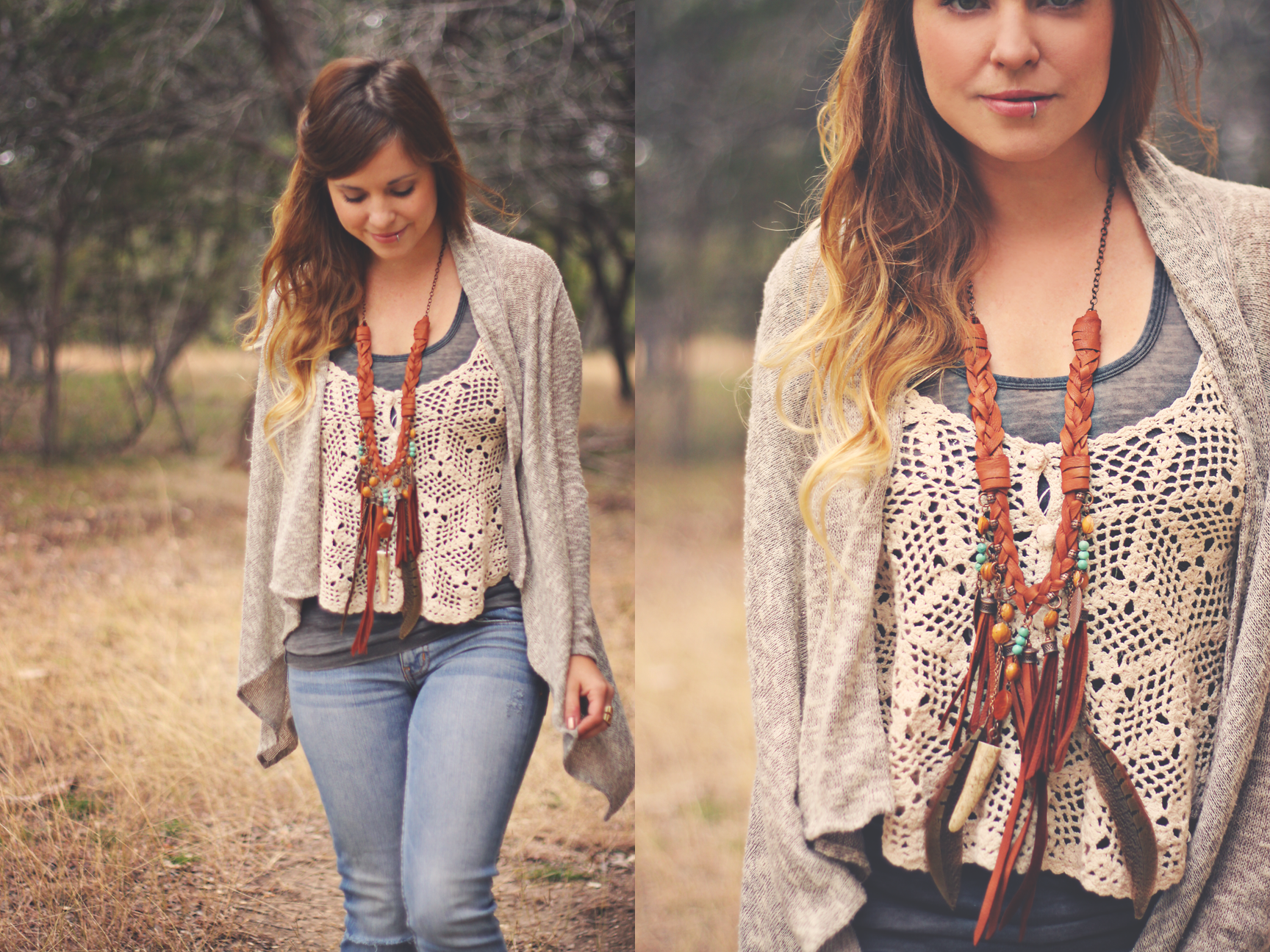 Casual Boho outfit on Roots and Feathers