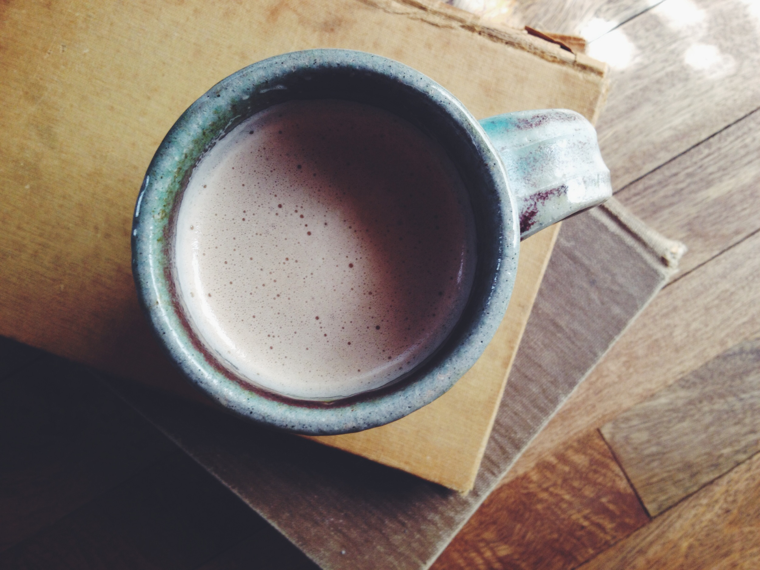always delighted when my hubby brings me or makes me a latte...