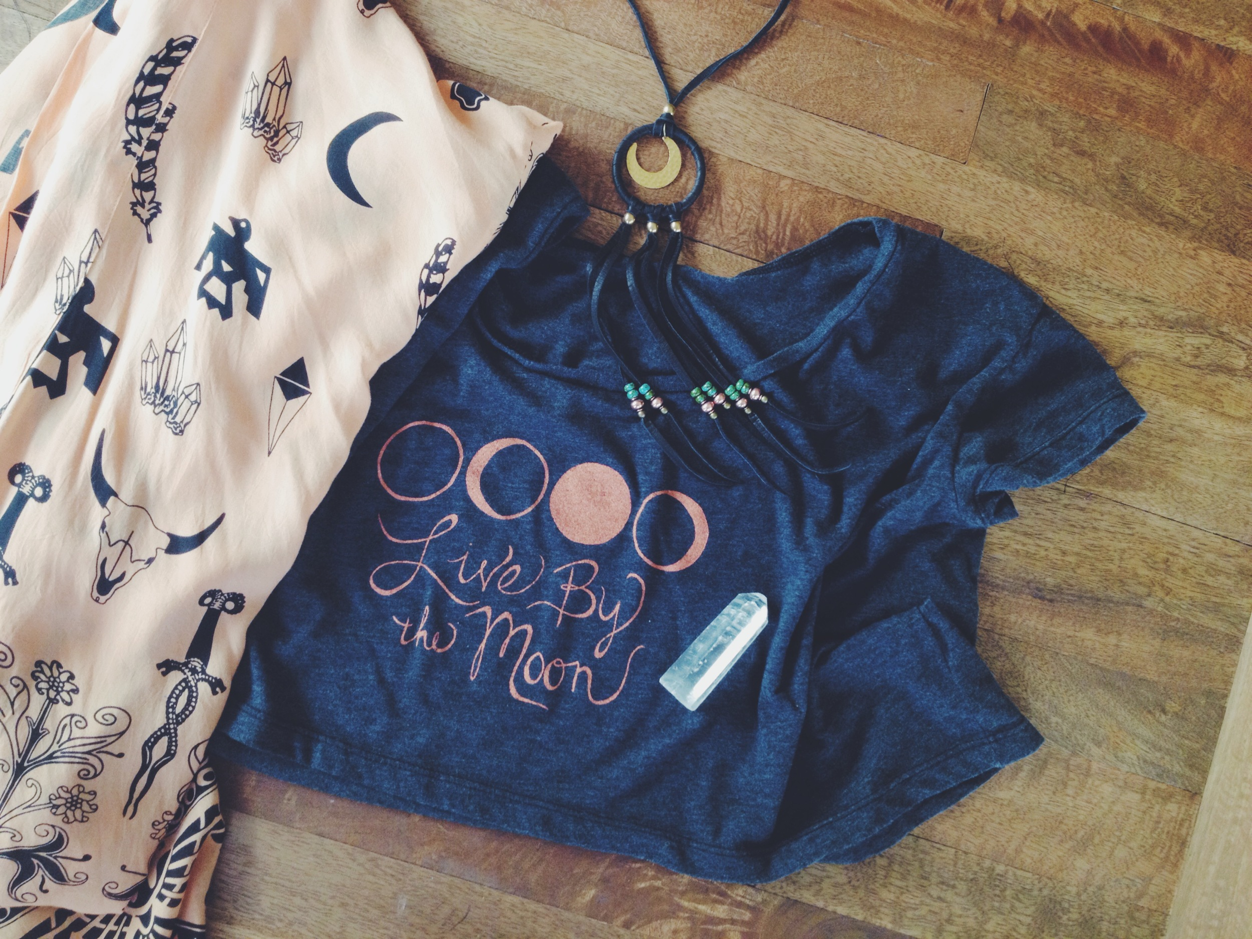 We printed a fresh batch of Skyline Fever  moon phase crop tops .