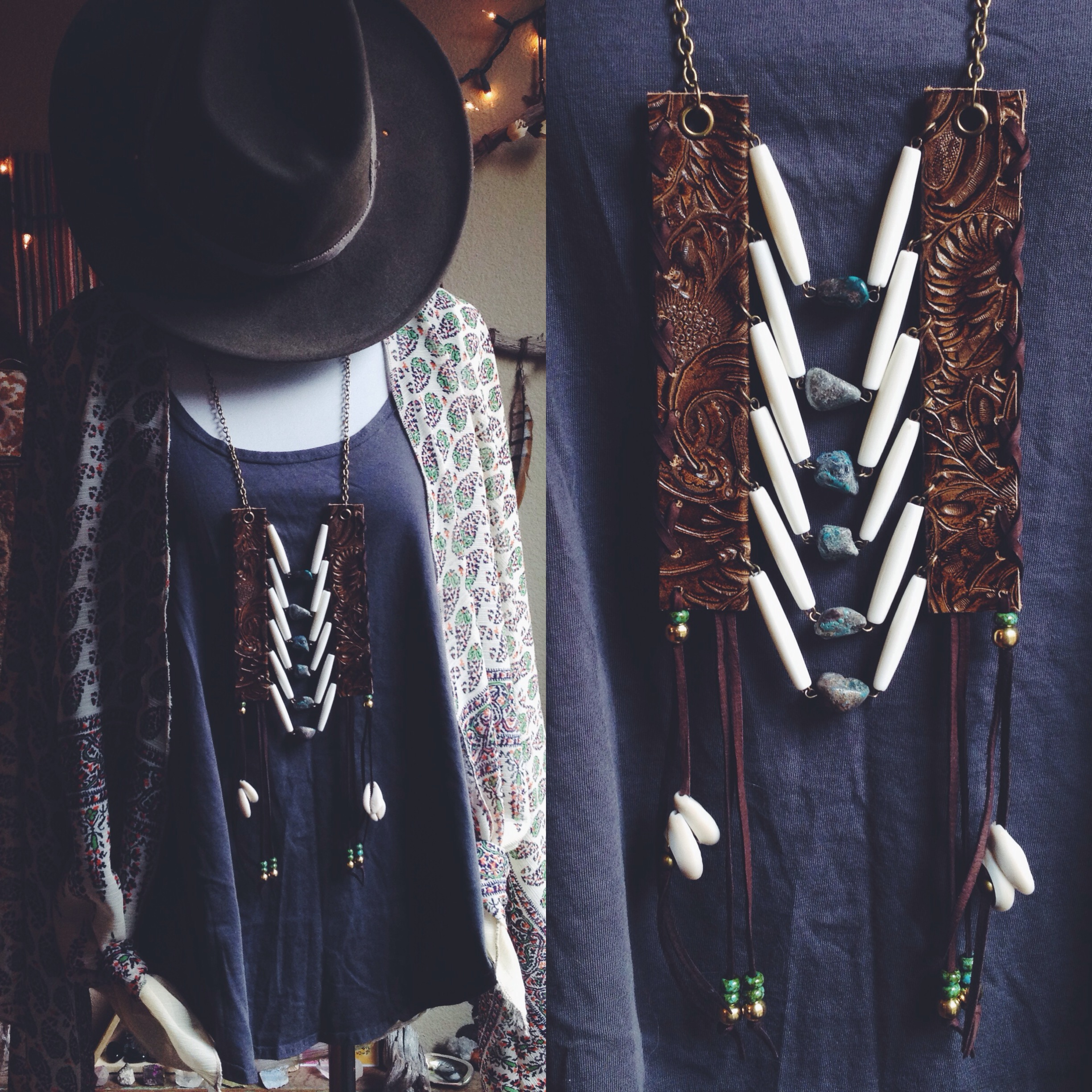 Roots & Feathers Necklace