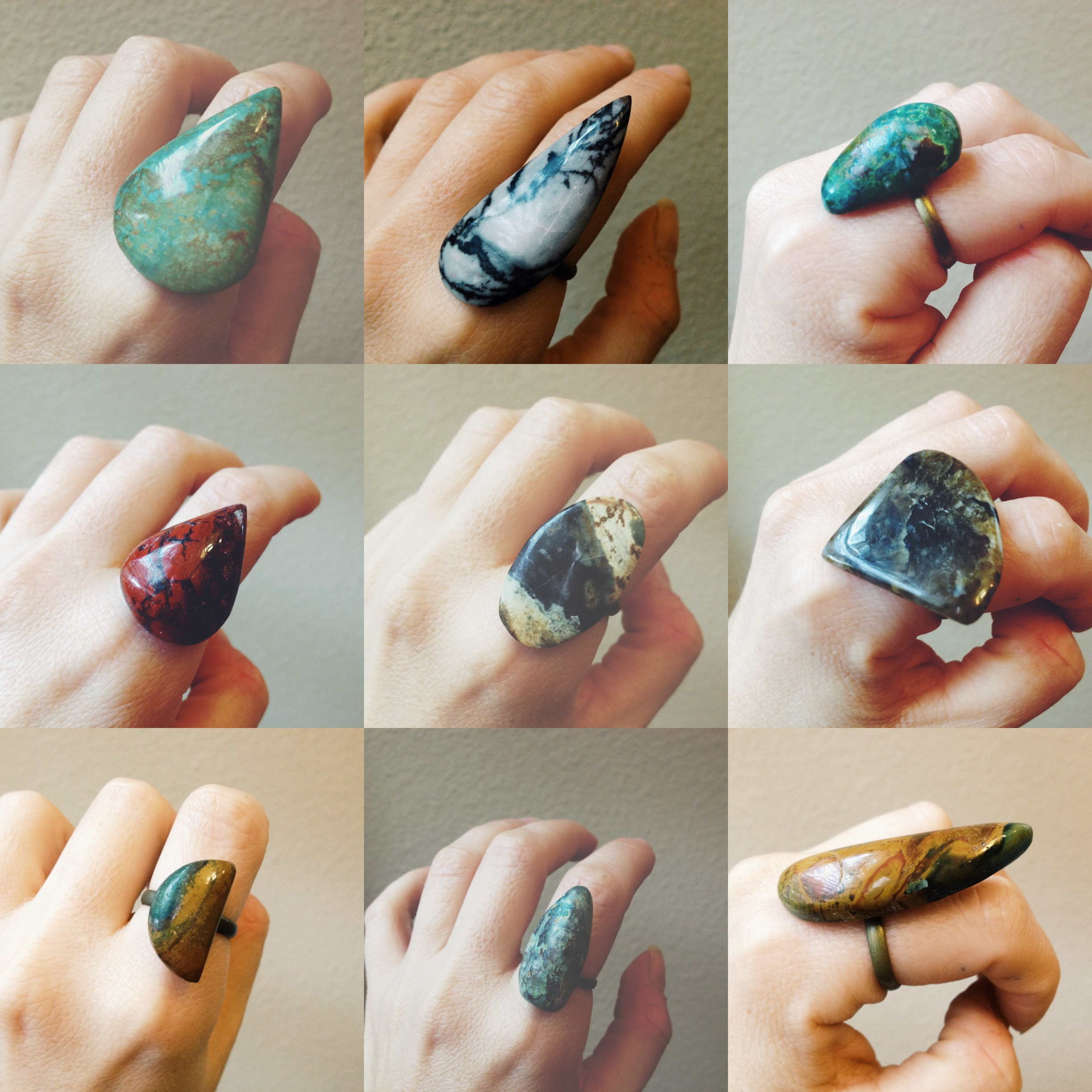Roots & Feathers Rings