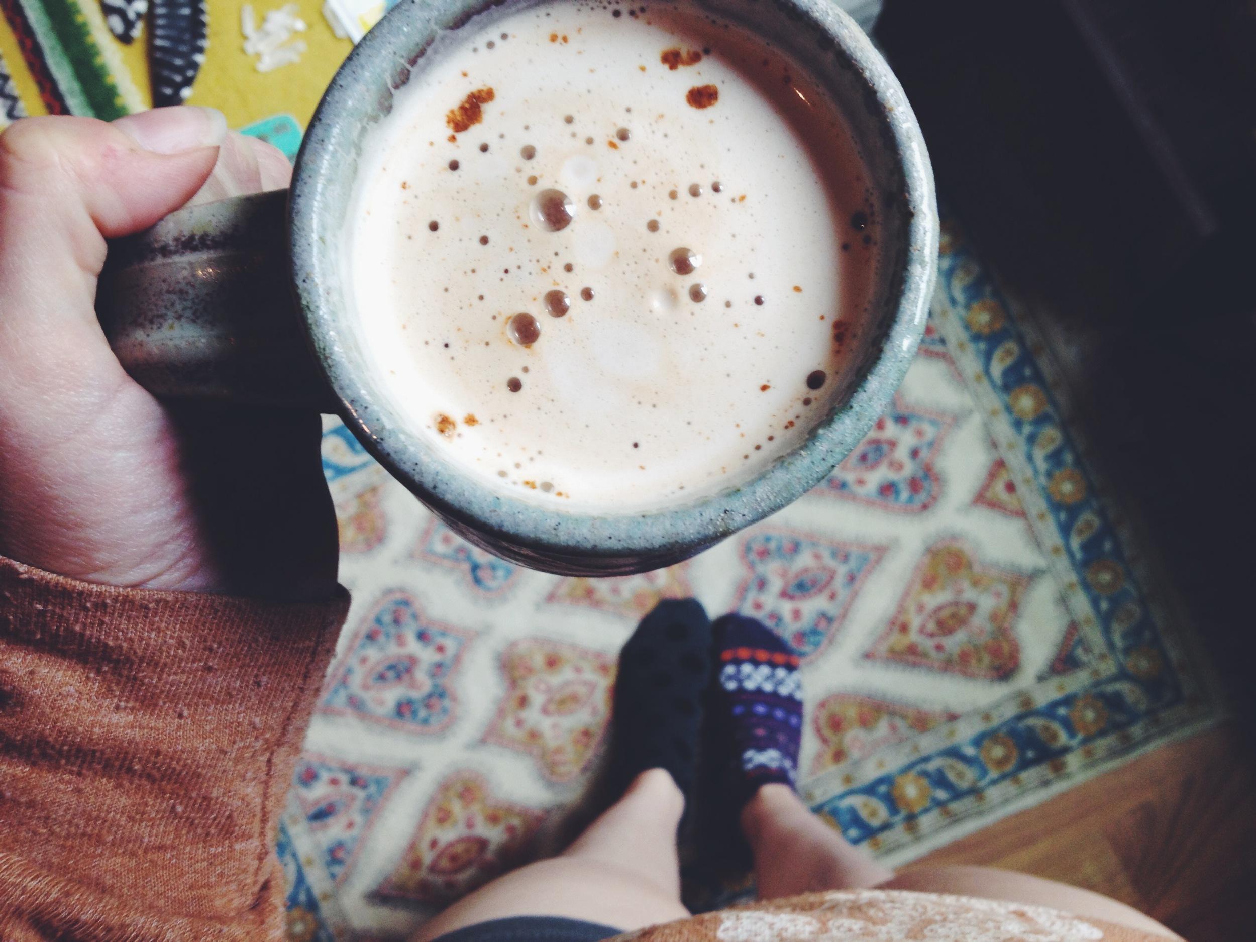 Chai Latte via Roots & Feathers